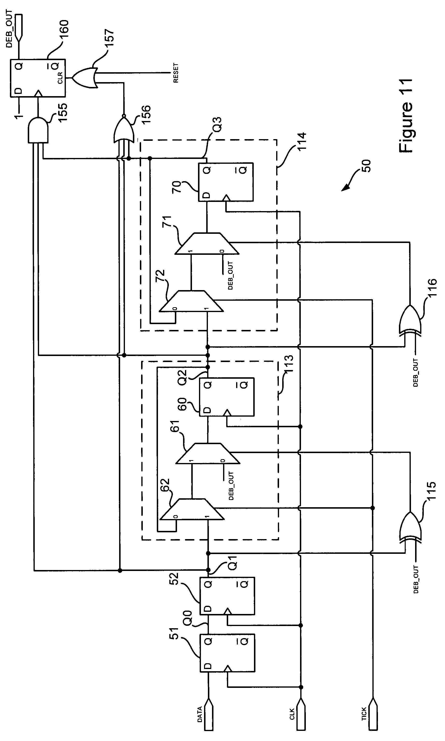 patent us7579894 - debounce circuit and method