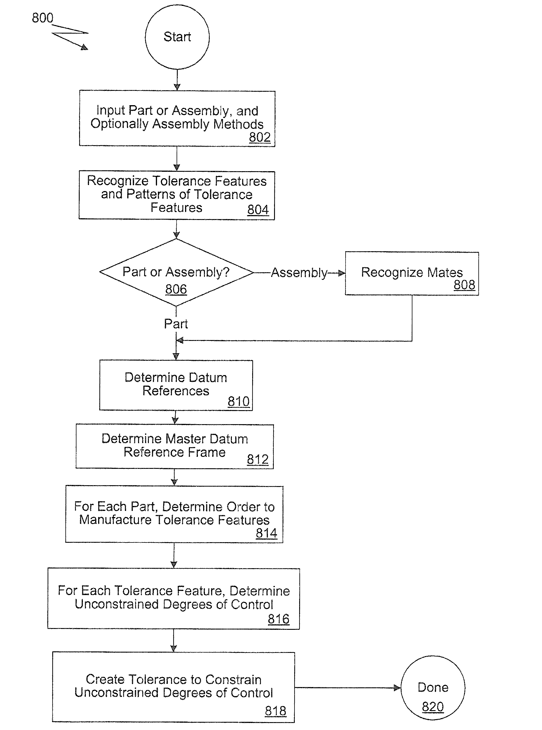 patent us7590497 automatic generation of tolerance schemes patent drawing