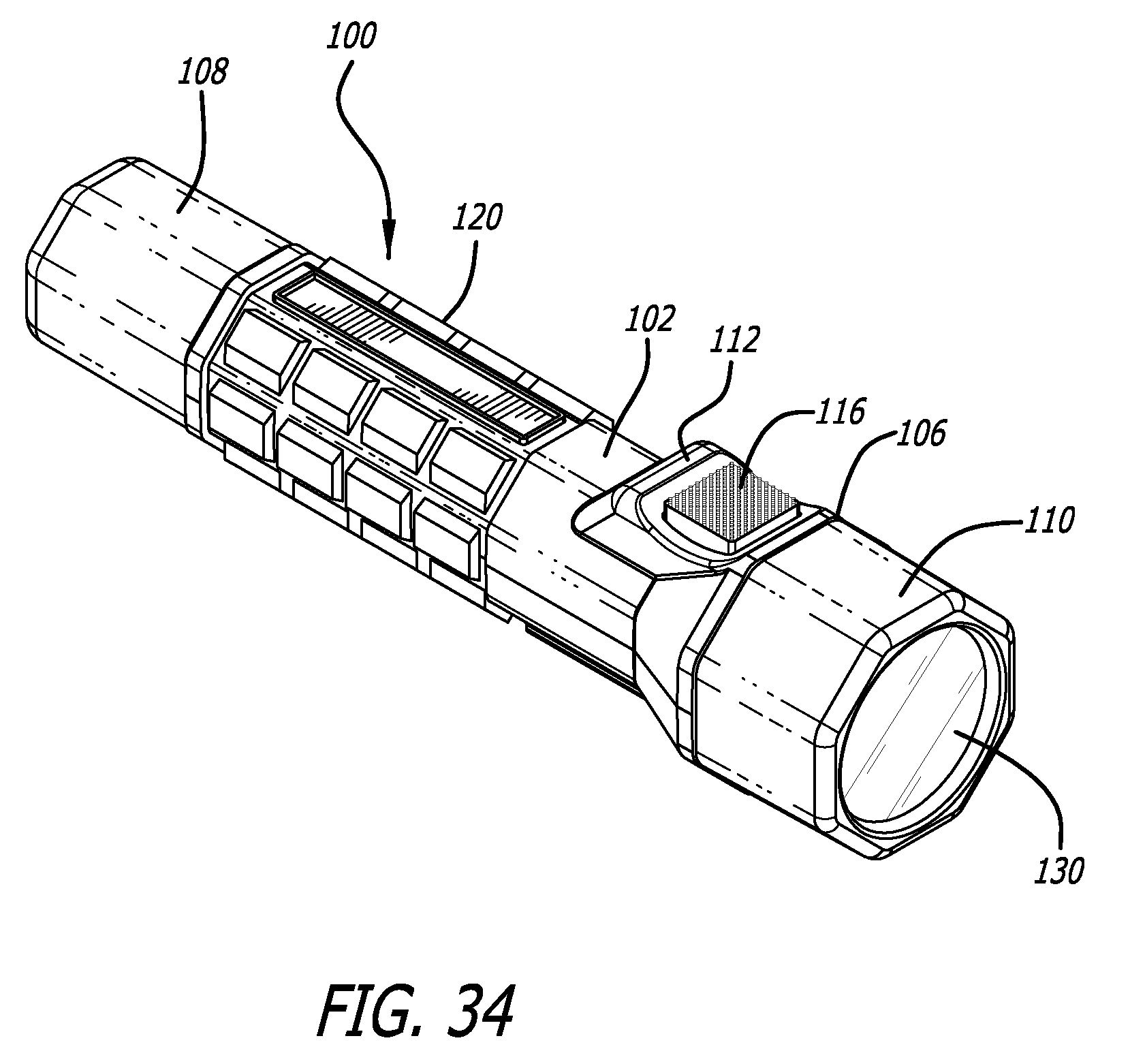 patent us7594735 - multi-switch flashlight