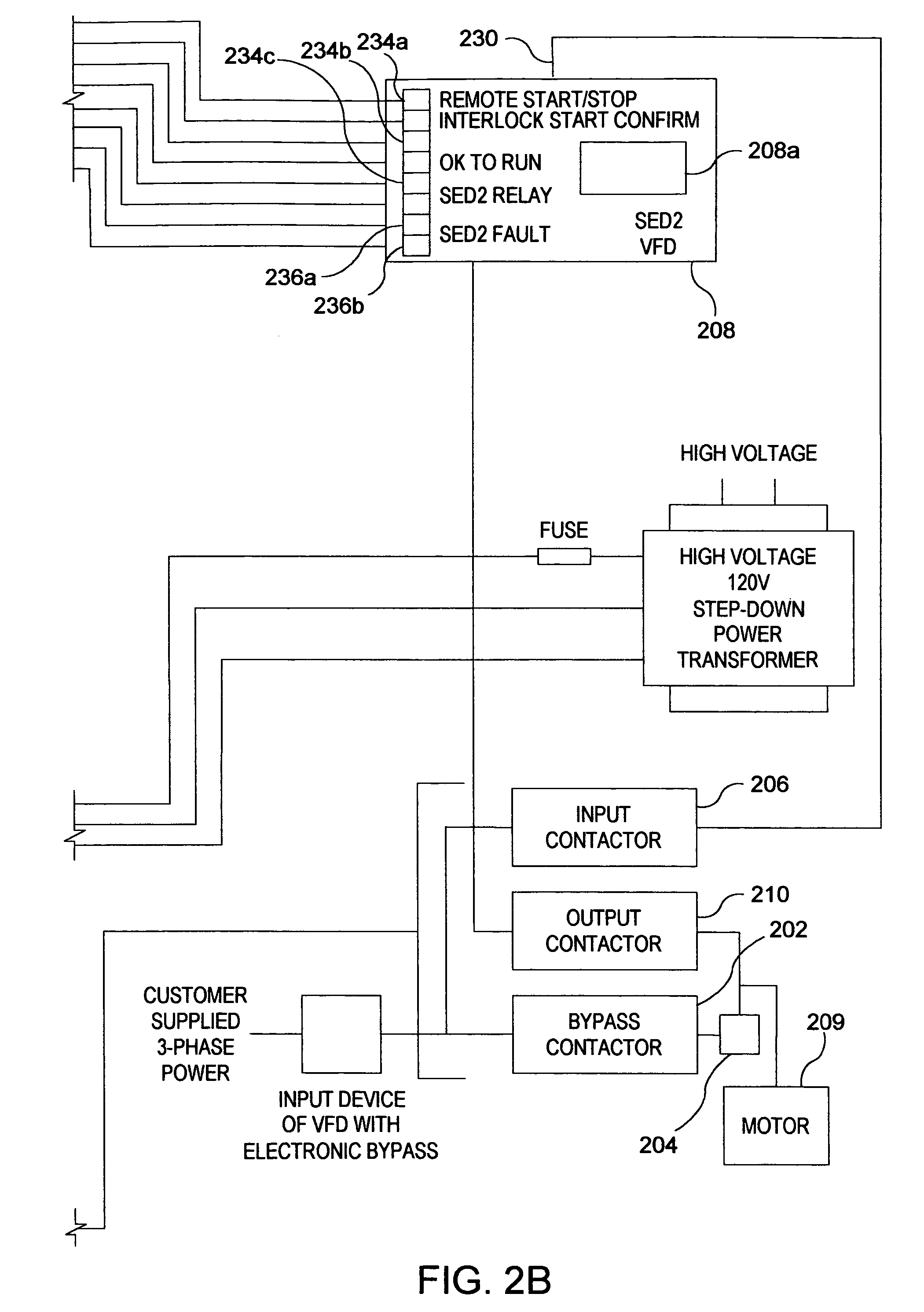 Patente Us7598628 Automated Bypass Method And Apparatus Patentes Line Connected Motor Wiring Diagram With External Overload Patent Drawing