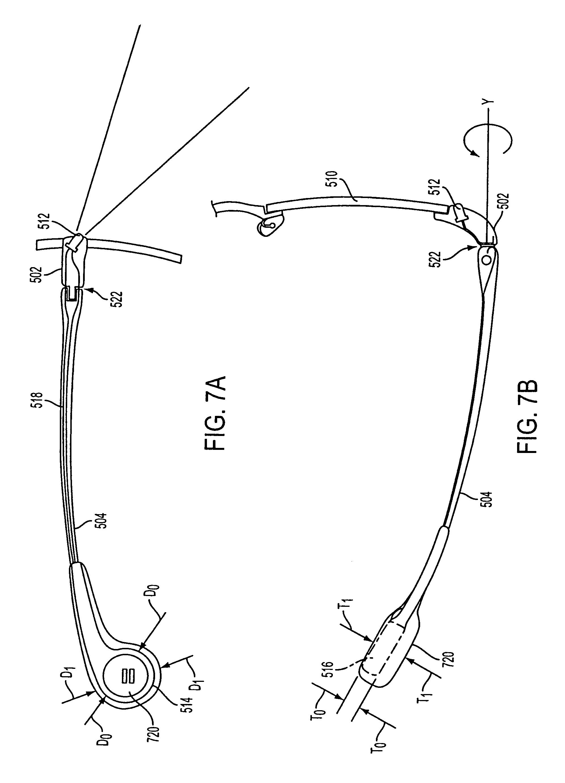 Glasses Frame Structure : Patent US7607775 - Illuminating eyeglasses and eyeglasses ...