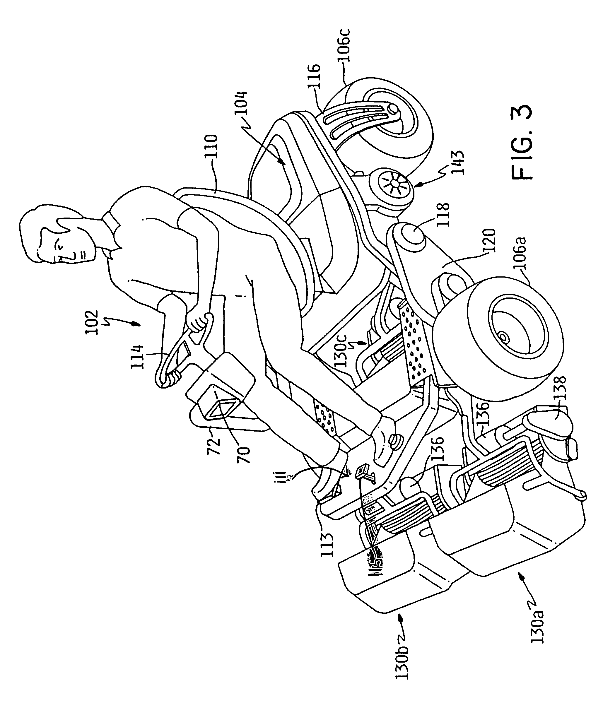 Patent Us7610975 Electric Drive Riding Mower Google Patents Fuse Box On A 2008 Chrysler 300 Location Drawing
