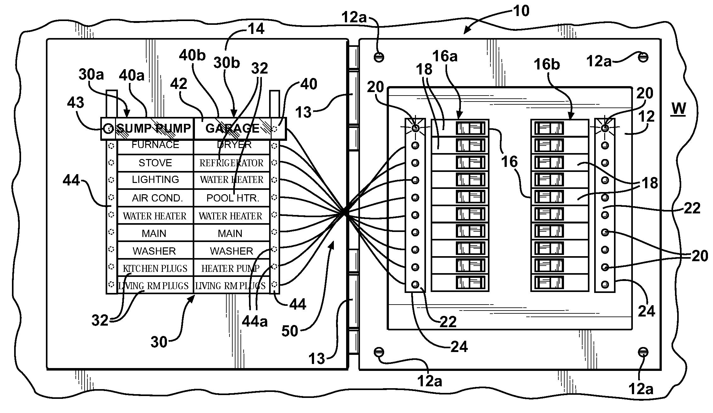 patent us7616096 - easy-to-read breaker panel