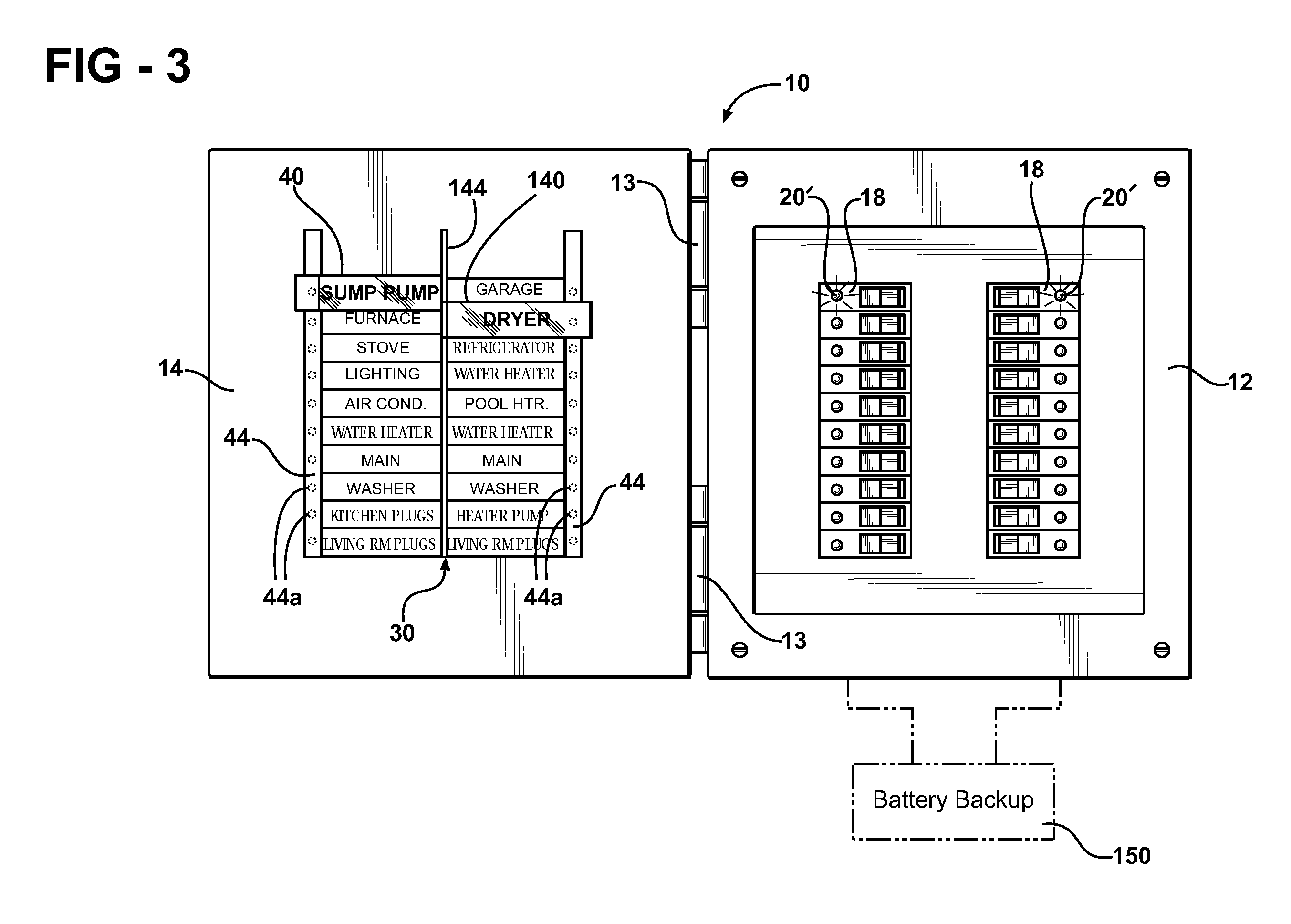 Patent US7616096 - Easy-to-read breaker panel - Google Patents
