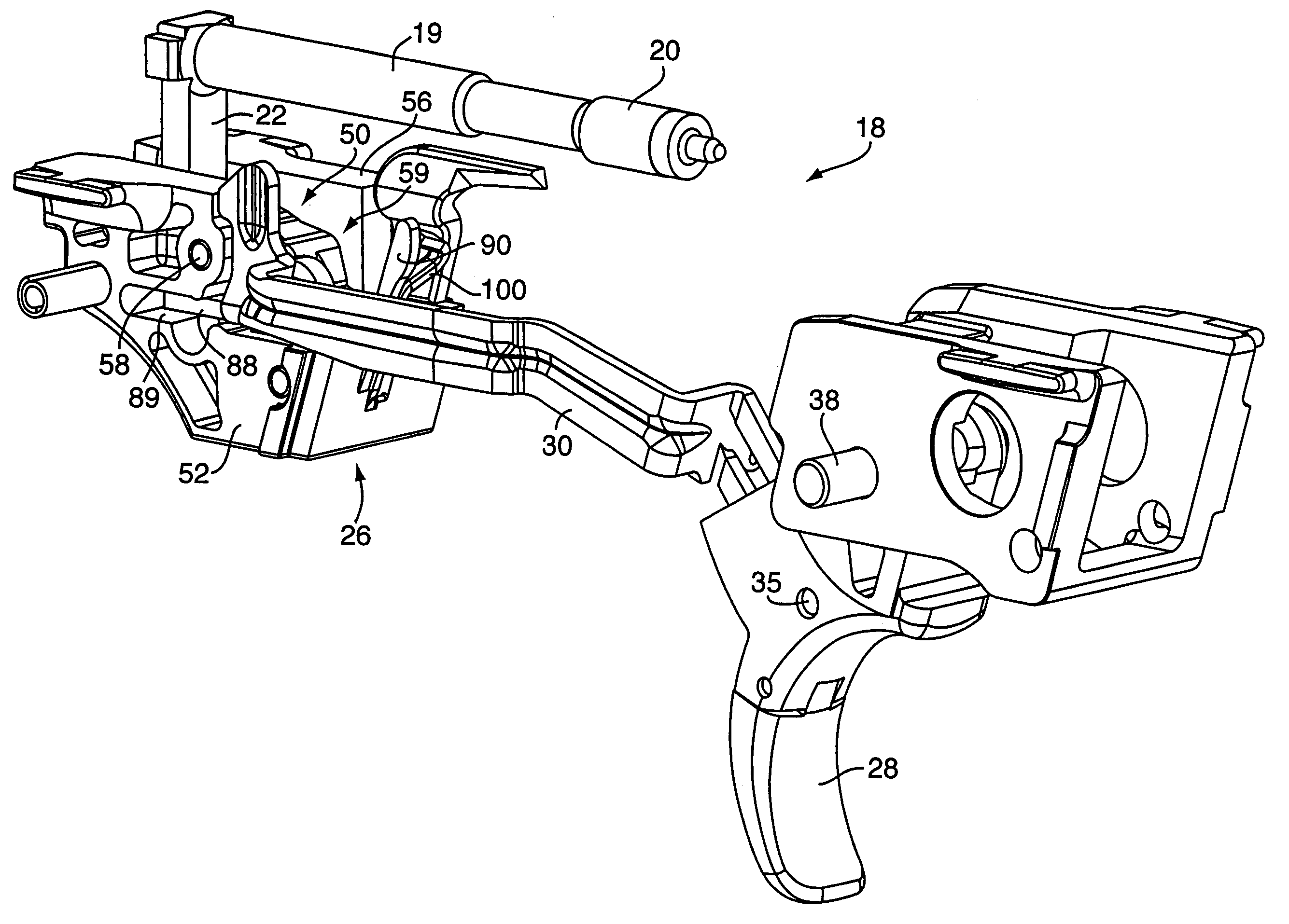patent us7617628 - fire control mechanism for a firearm
