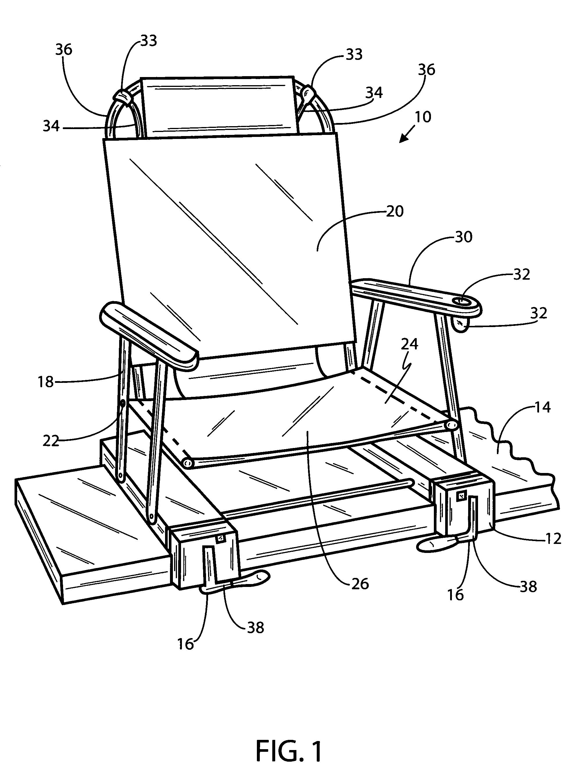 Patent US Foldable portable stadium chair Google Patents