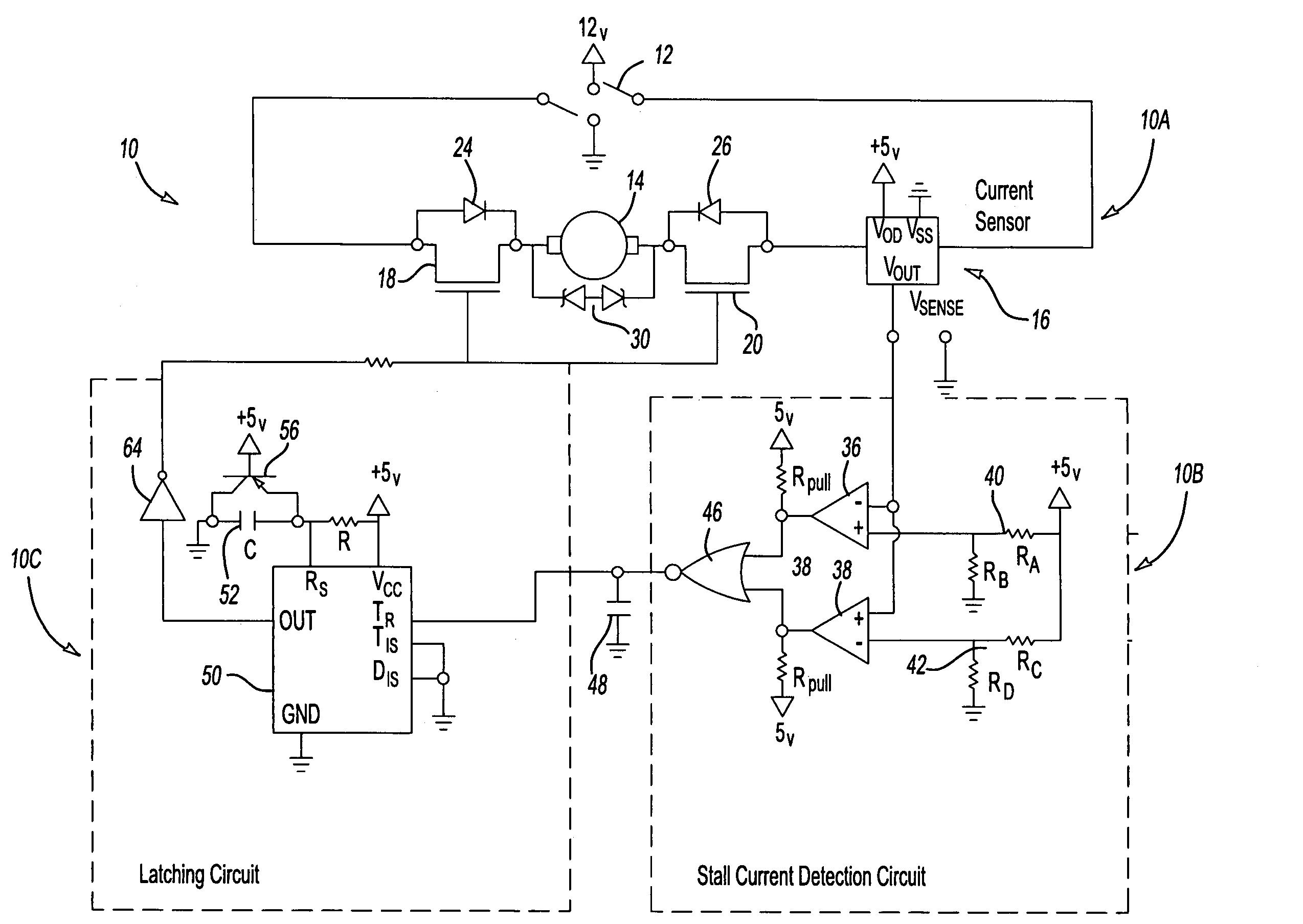Patent Us7633252 Bidirectional Motor Stall Protection Circuit Pulse Width Modulator With Ne555 Timeroscillator Drawing