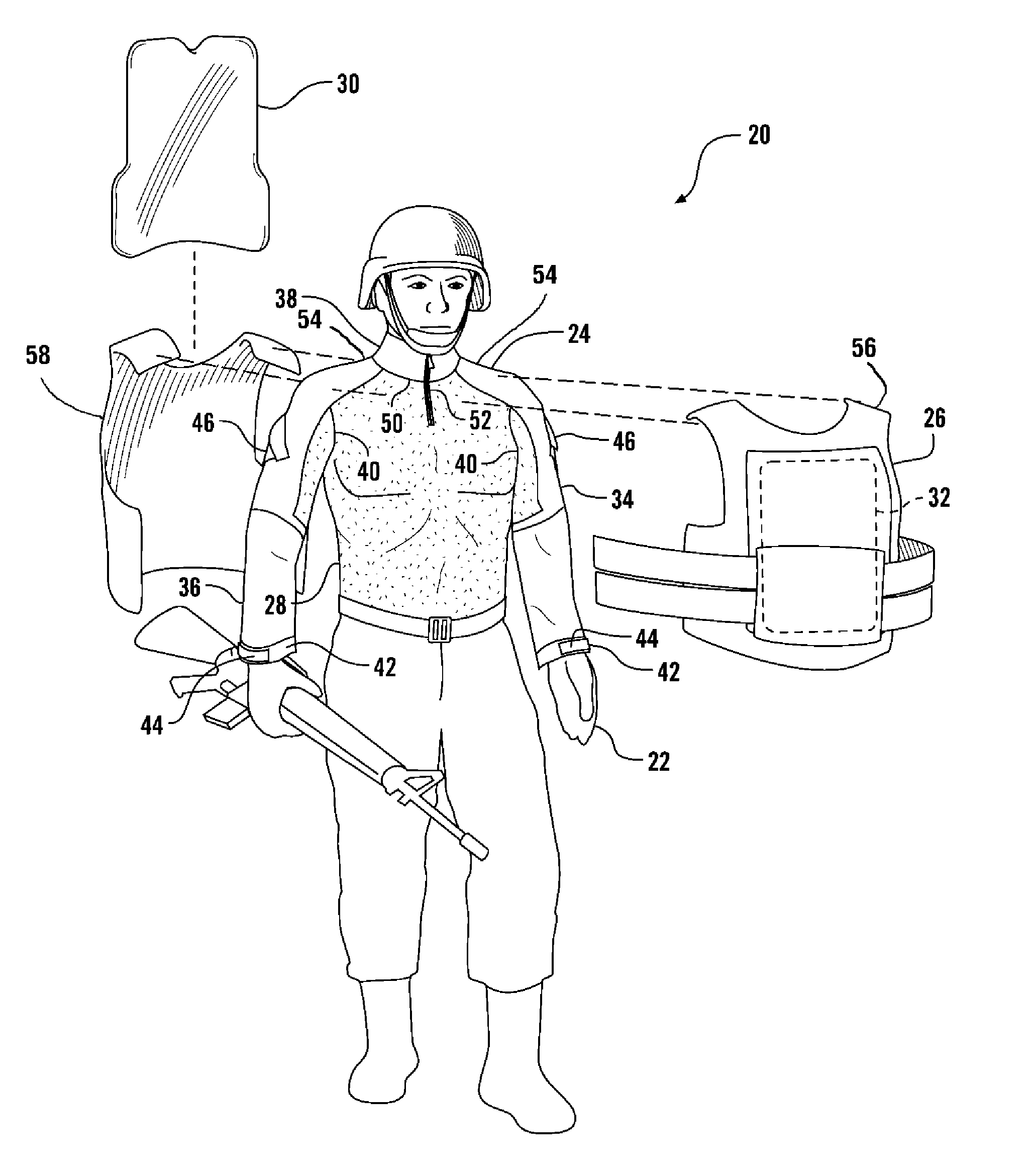 patent us7636948 combat shirt and armor system google patents