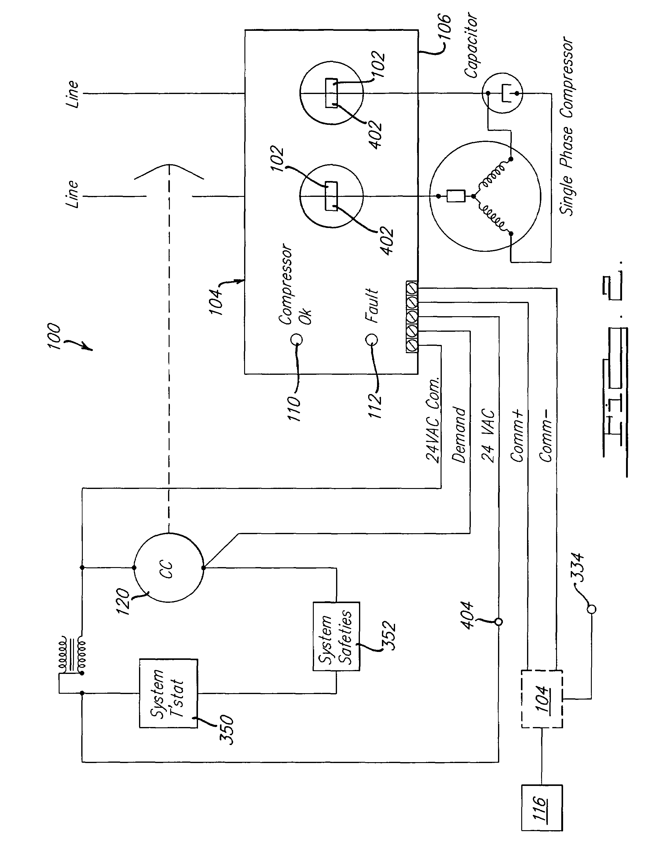 patent us7647783 compressor diagnostic system google patents Scroll AC Compressors  Single Phase Motor Wiring Diagrams Auto Ac Compressor Wiring Diagram Condensing Unit Wiring Diagram
