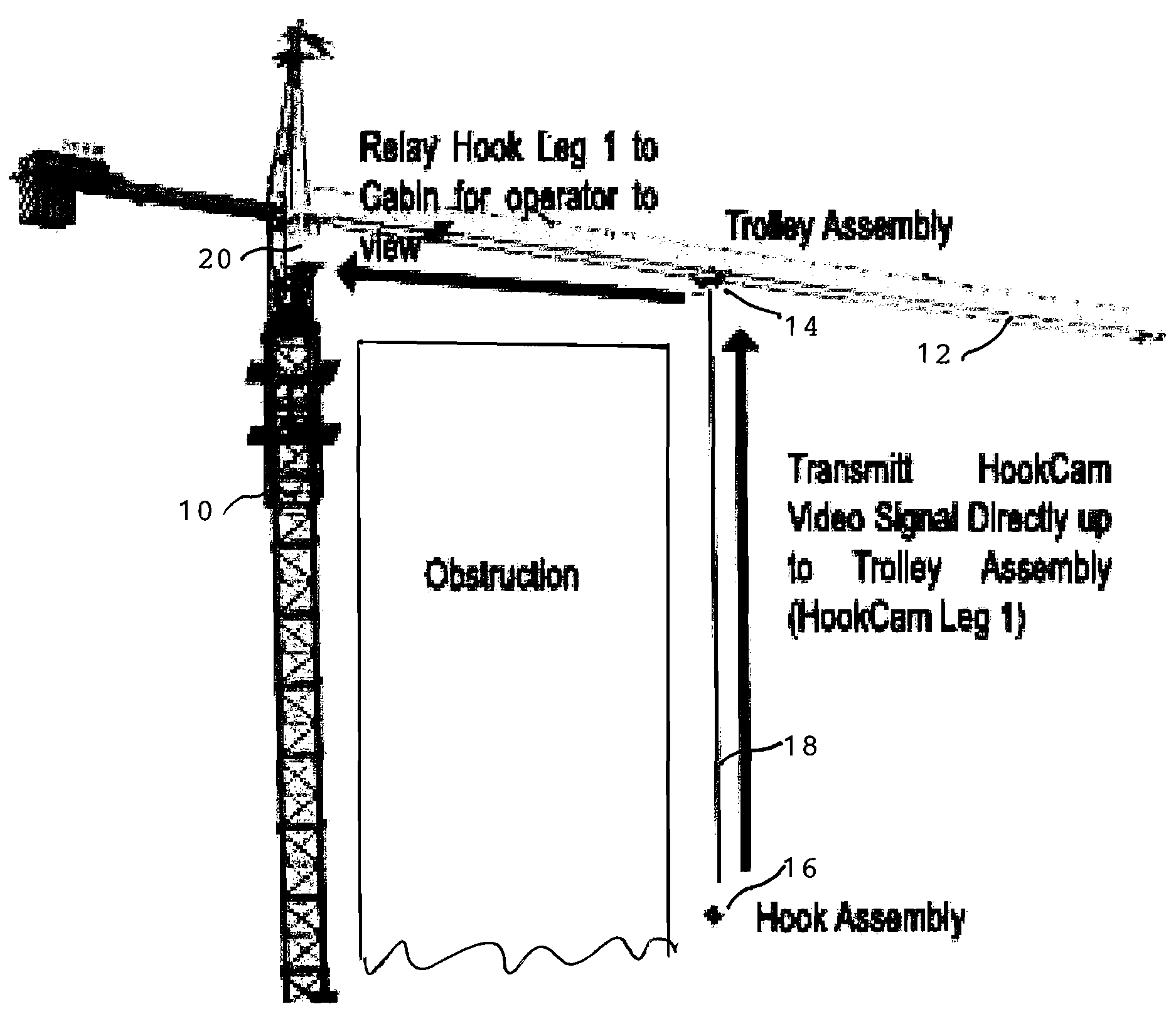 Patent Us7656459 Crane Hook And Trolley Camera System