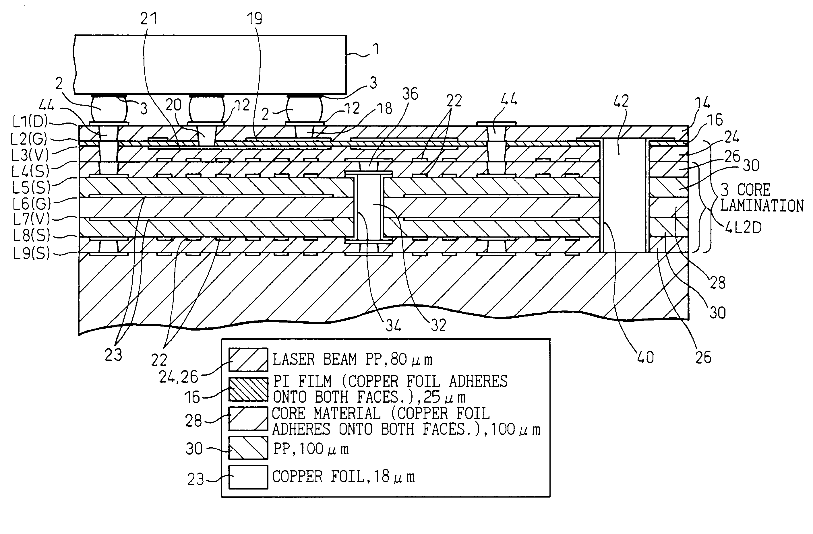 Patent Us7671281 Multilayer Wiring Circuit Board Google Patents Drawing