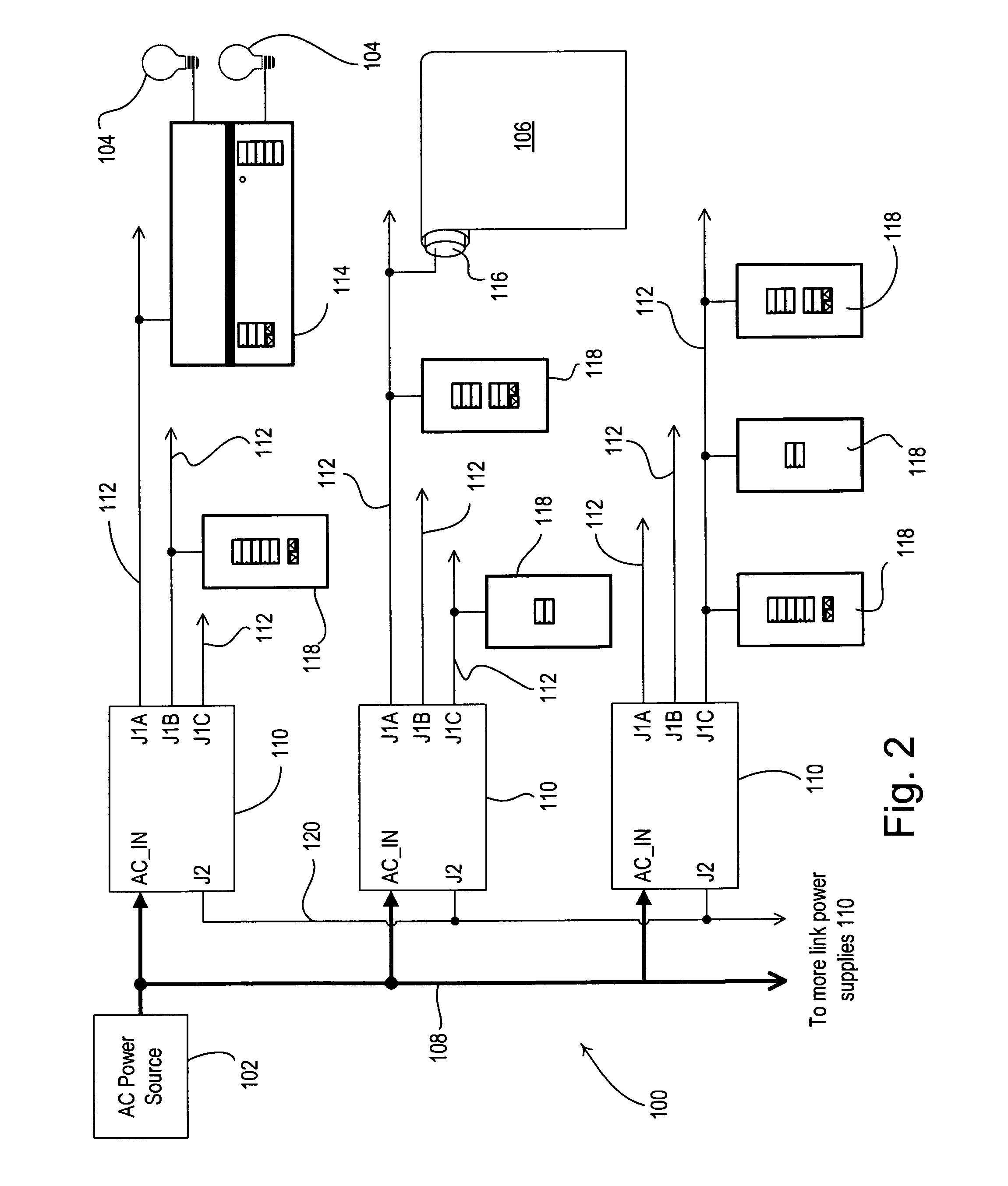 patent us7675195 load control system having a plurality of patent drawing