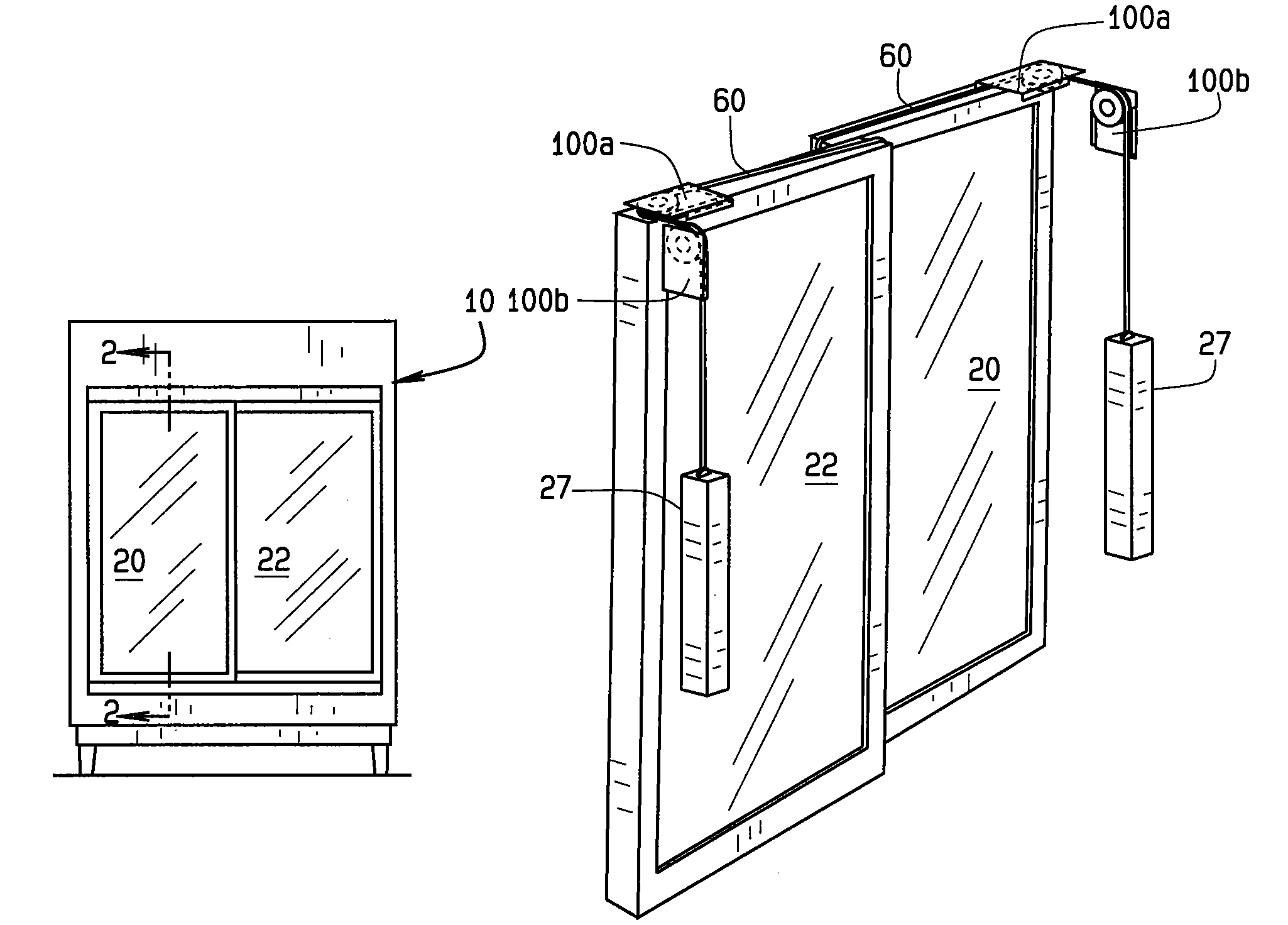 Patent Us7686405 Self Closing Sliding Door Assembly
