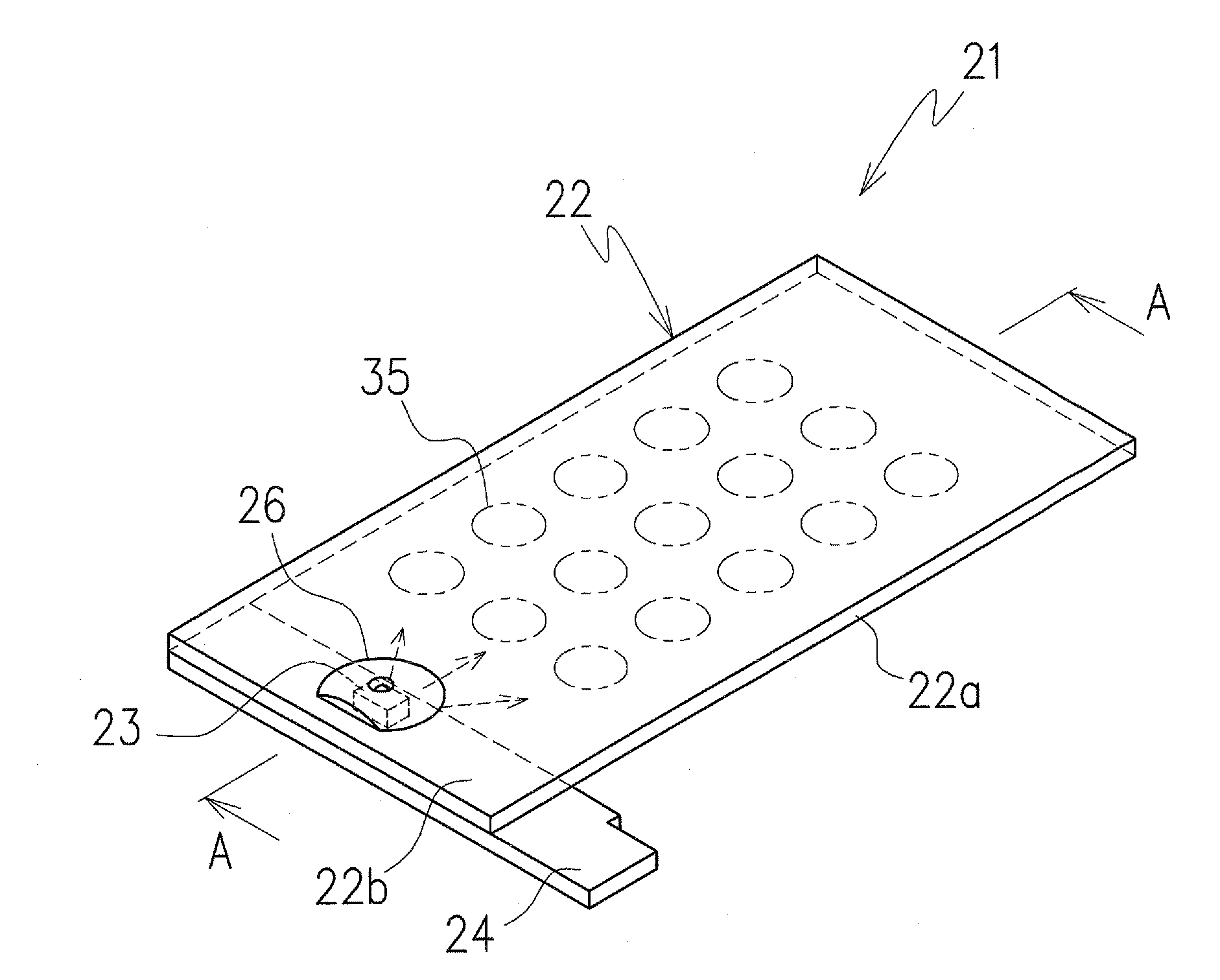 patent us7690803 - light emitting sheet module