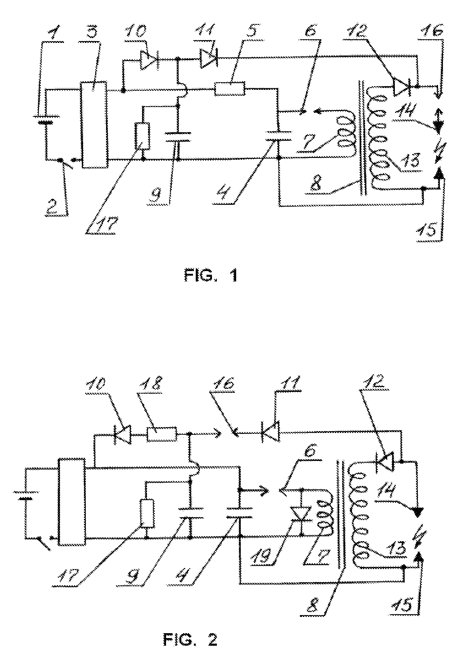 Patent Us7692915 Electric Shock Device Google Patents Circuit Board Diagram As Well Stun Gun Circuits Schematics Drawing