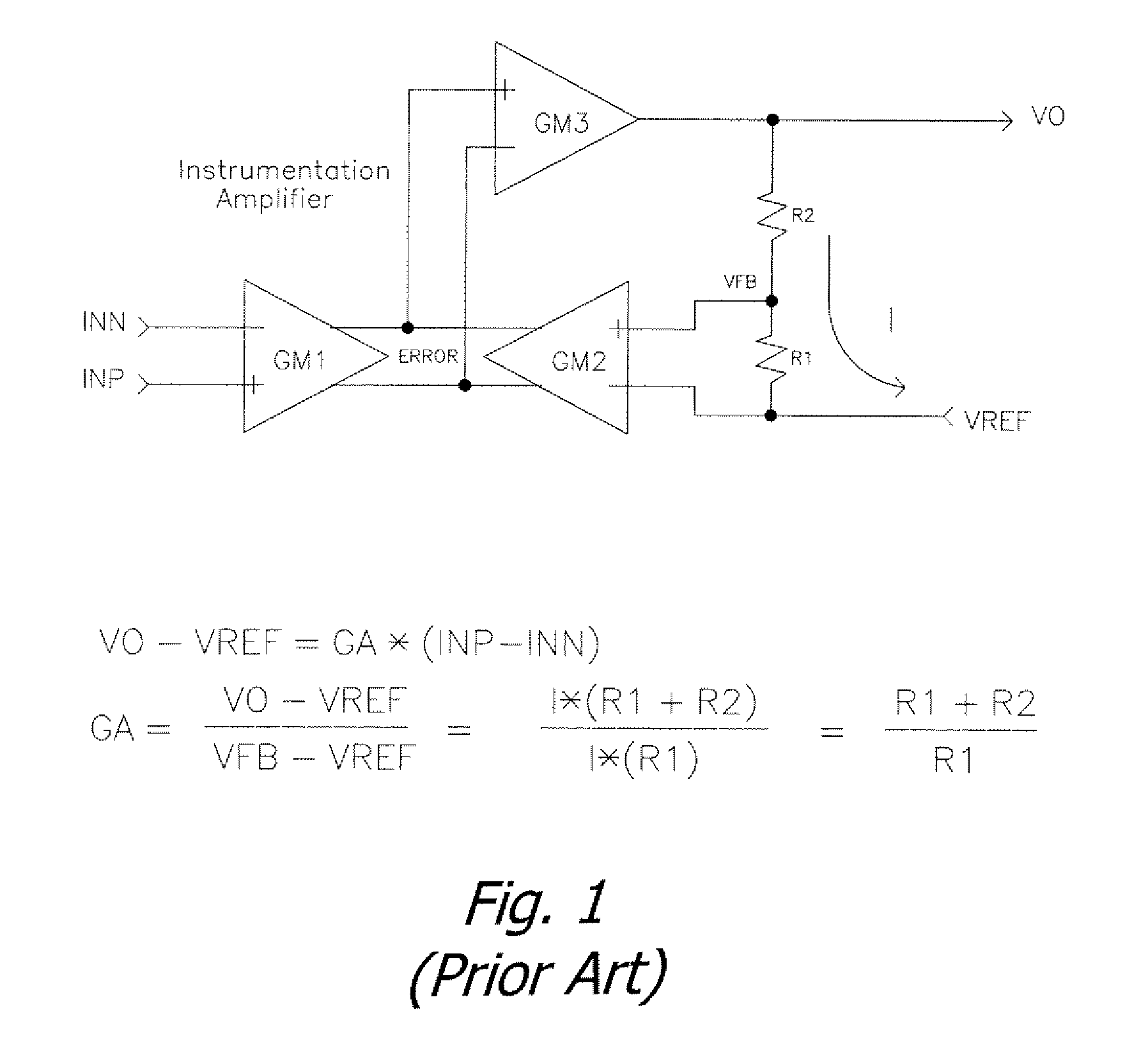 Patent Us7696817 Auto Gain Correction And Common Mode Voltage Variable Differential Input Instrumentation Amplifier Circuit Is Drawing