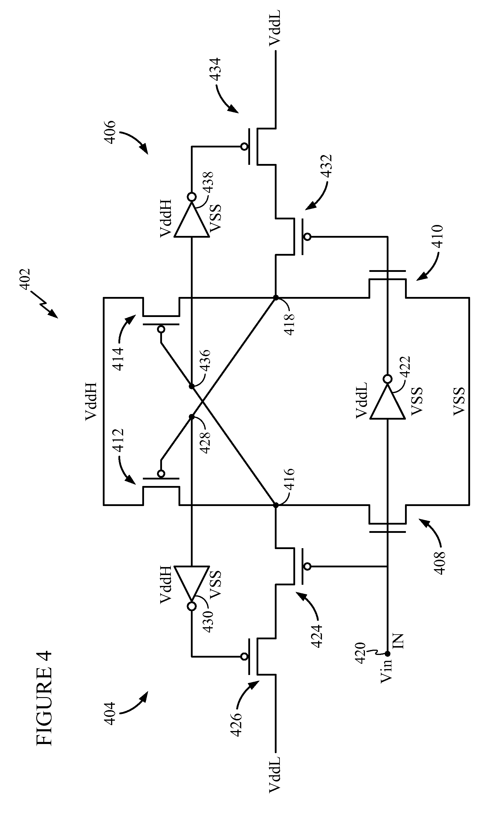 patent us7710183 - cmos level shifter circuit design