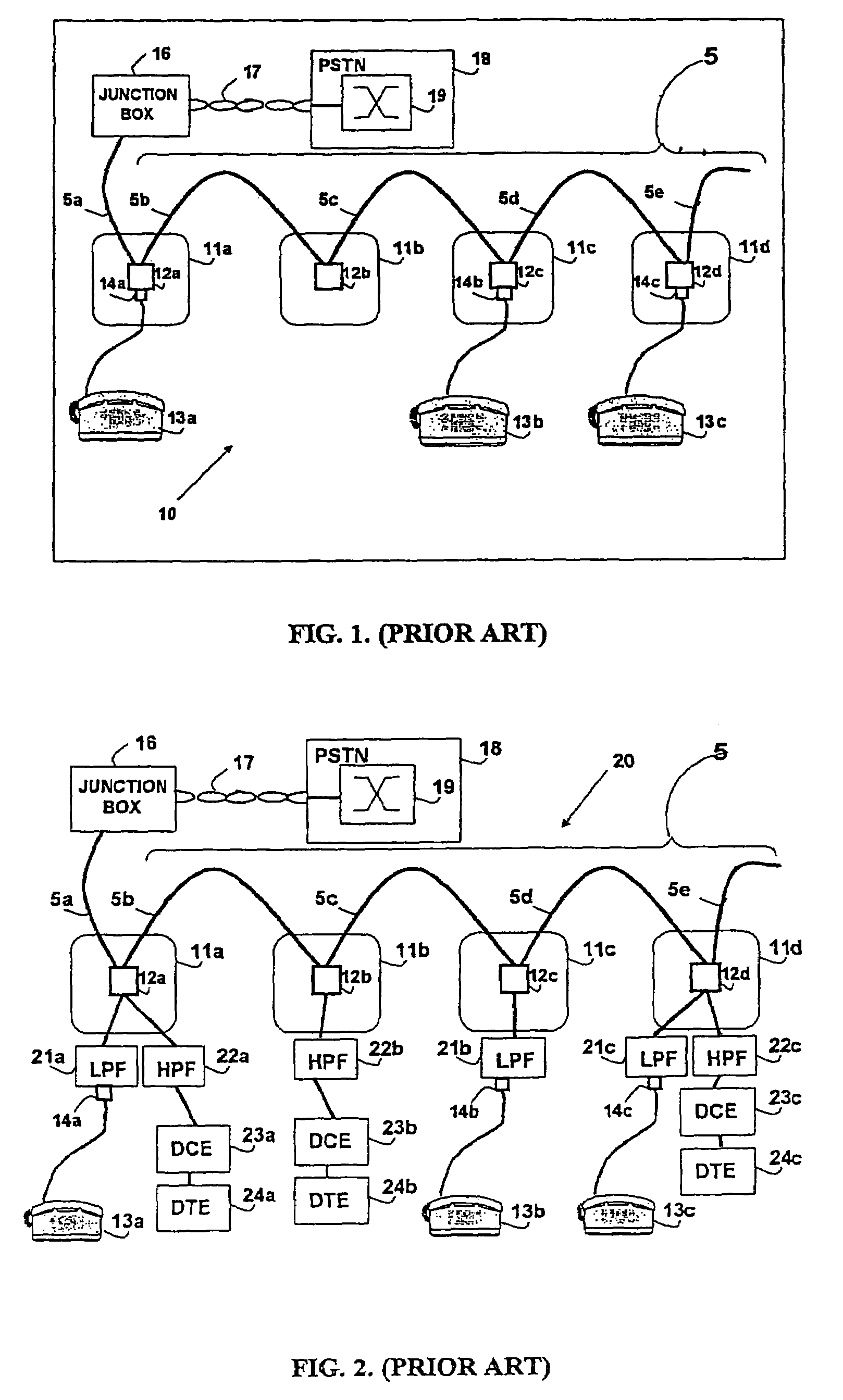 Patent Us7715534 Telephone Outlet For Implementing A Local Area Your Home To Separate Adsl And Dsl Inline Phone Filter Circuit Diagram Drawing