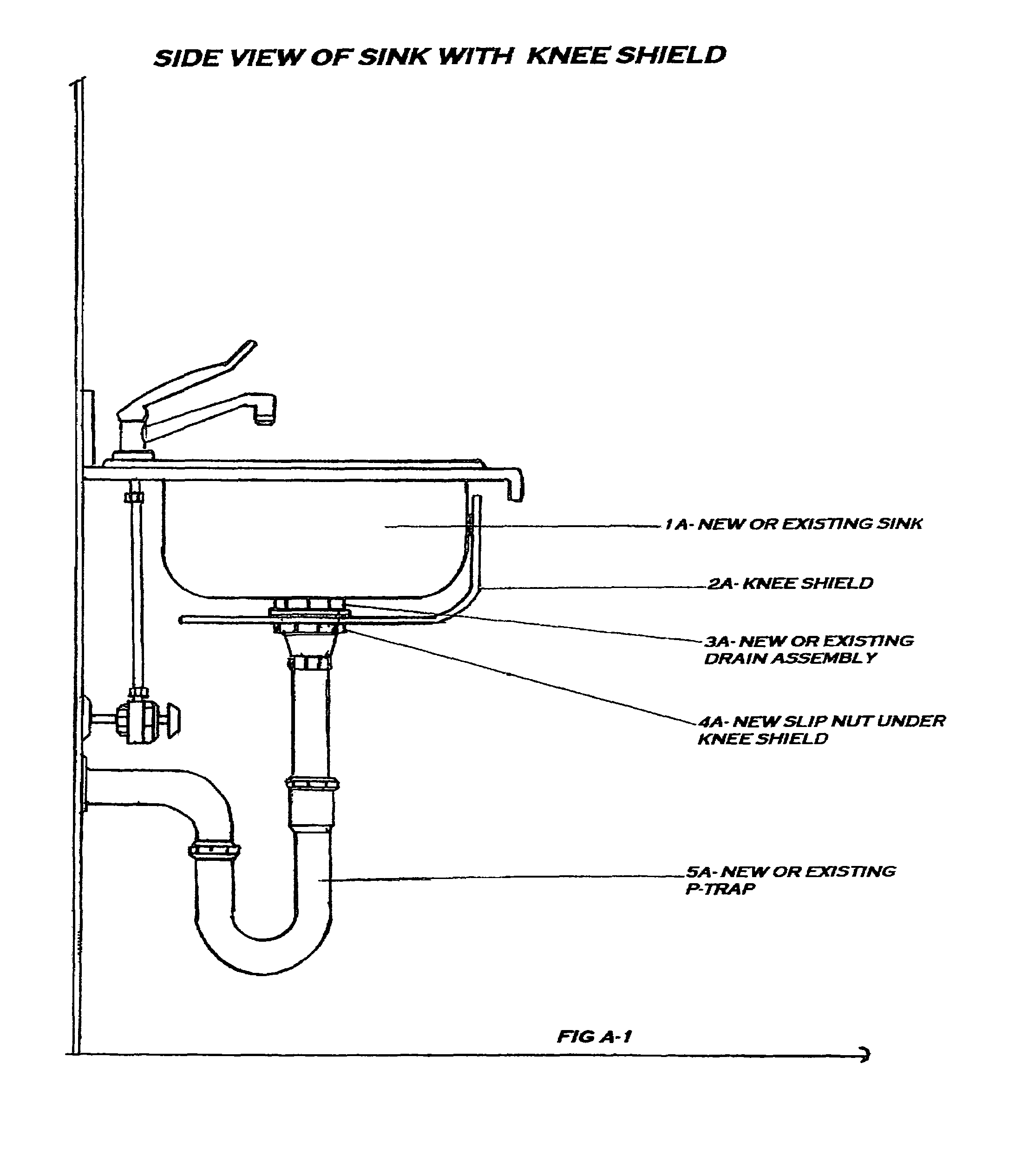 Patent US7721365 - Kitchen sink knee shield - Google Patents
