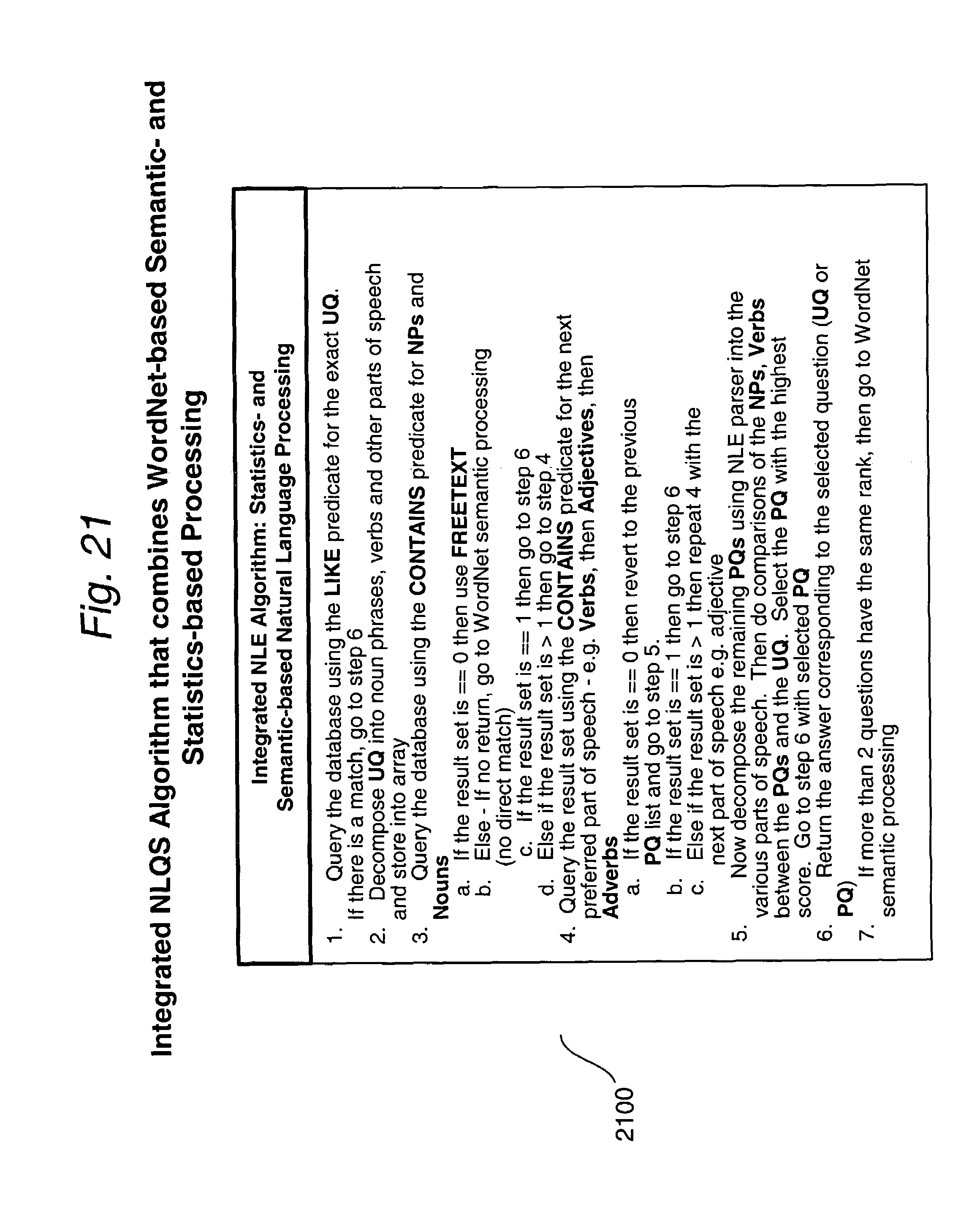 patent us query engine for processing voice based queries