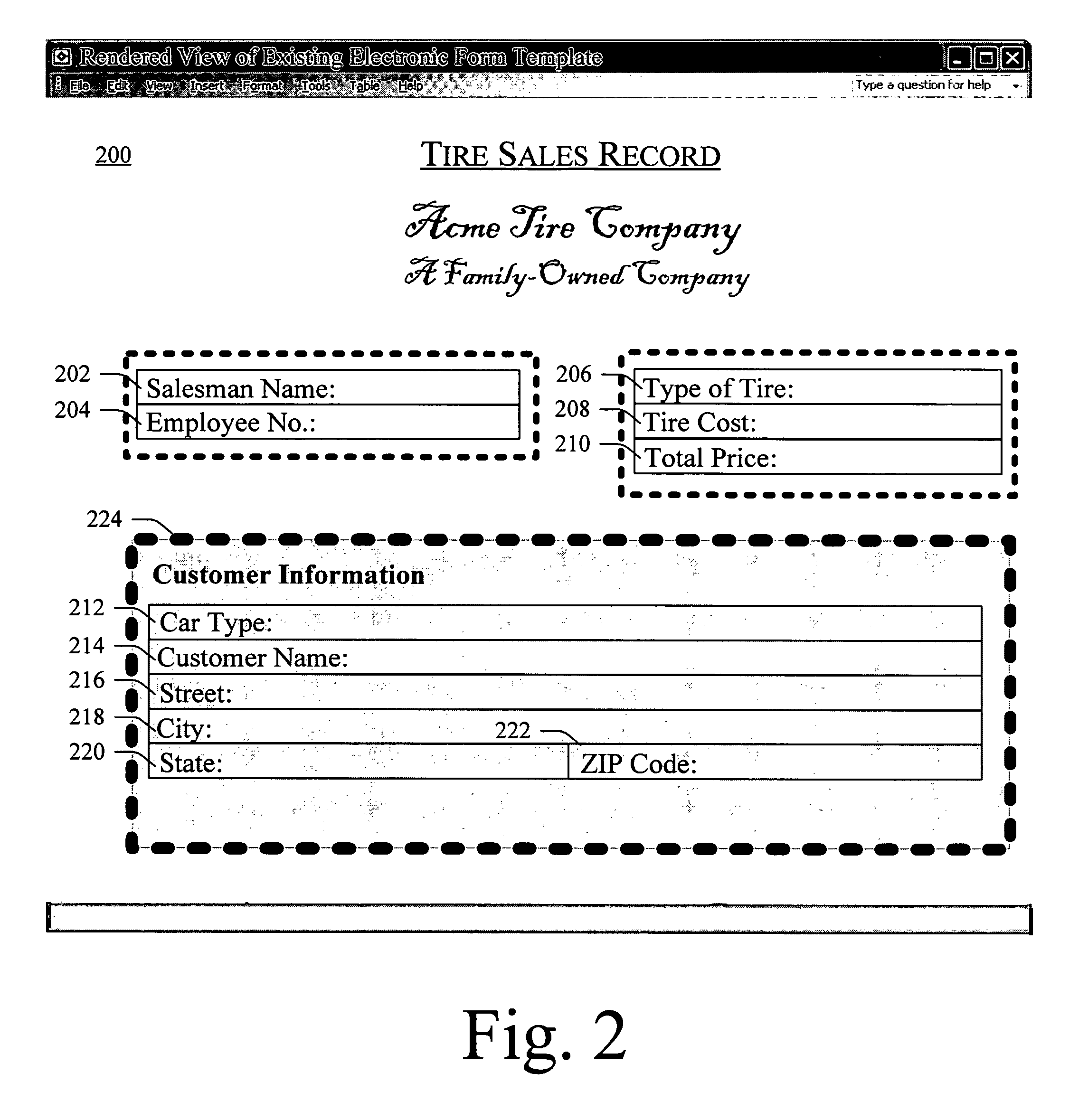 Patent US7725834 Designercreated aspect for an electronic form – New Customer Information Form Template