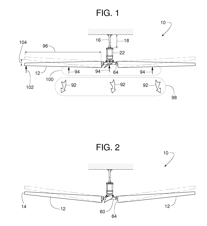 Ceiling fan blade angle adjustment bottlesandblends patent us7726945 ceiling fan google patents aloadofball Images
