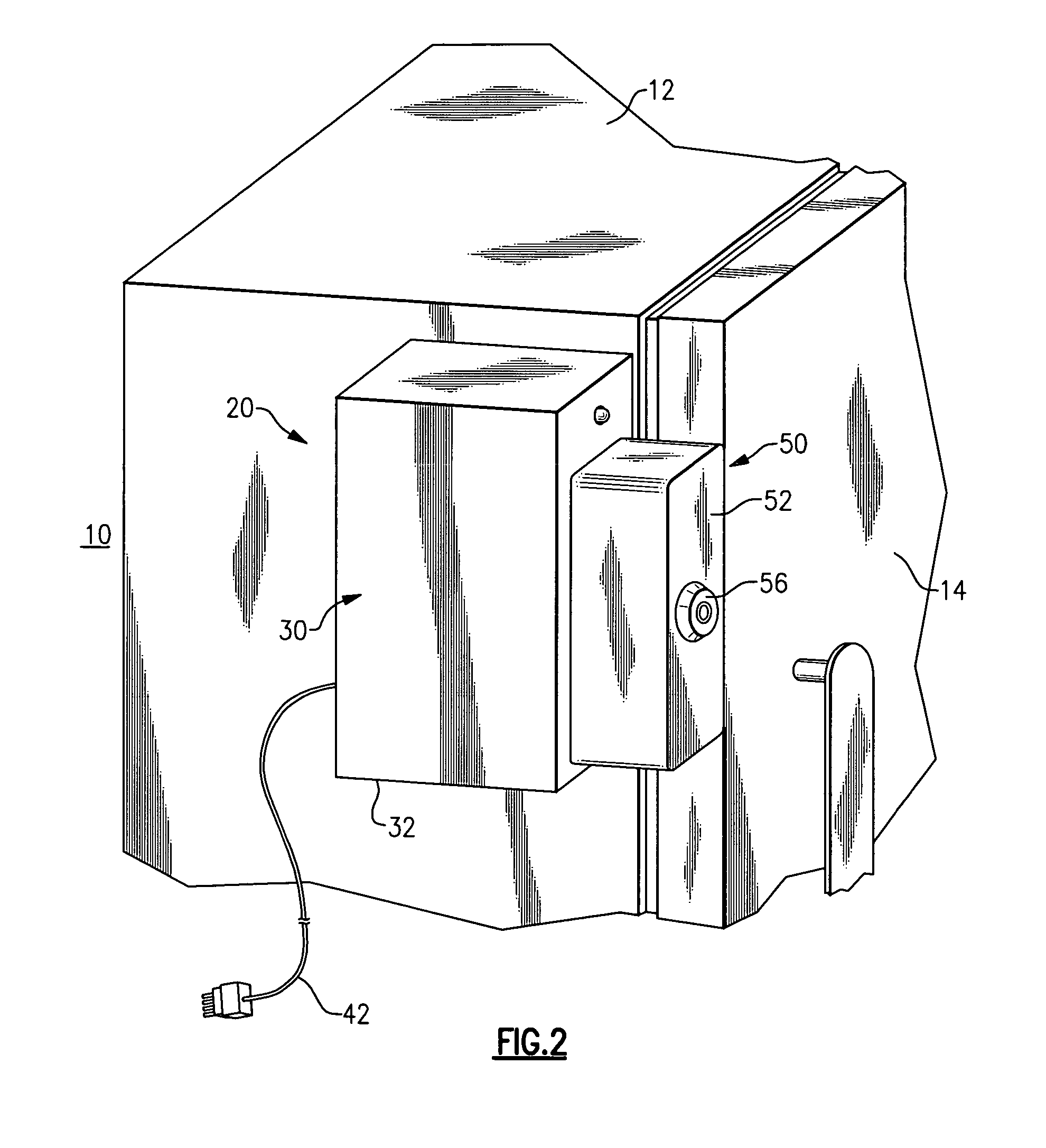 US7728711 on refrigerator enclosure