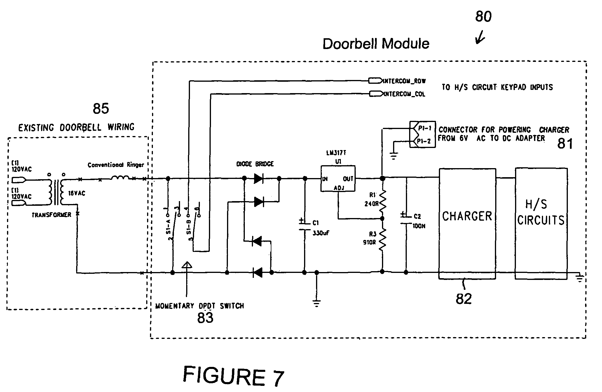 US07738917 20100615 D00007 patent us7738917 intercom wireless door bell for multi handset bell 901 wiring diagram at et-consult.org
