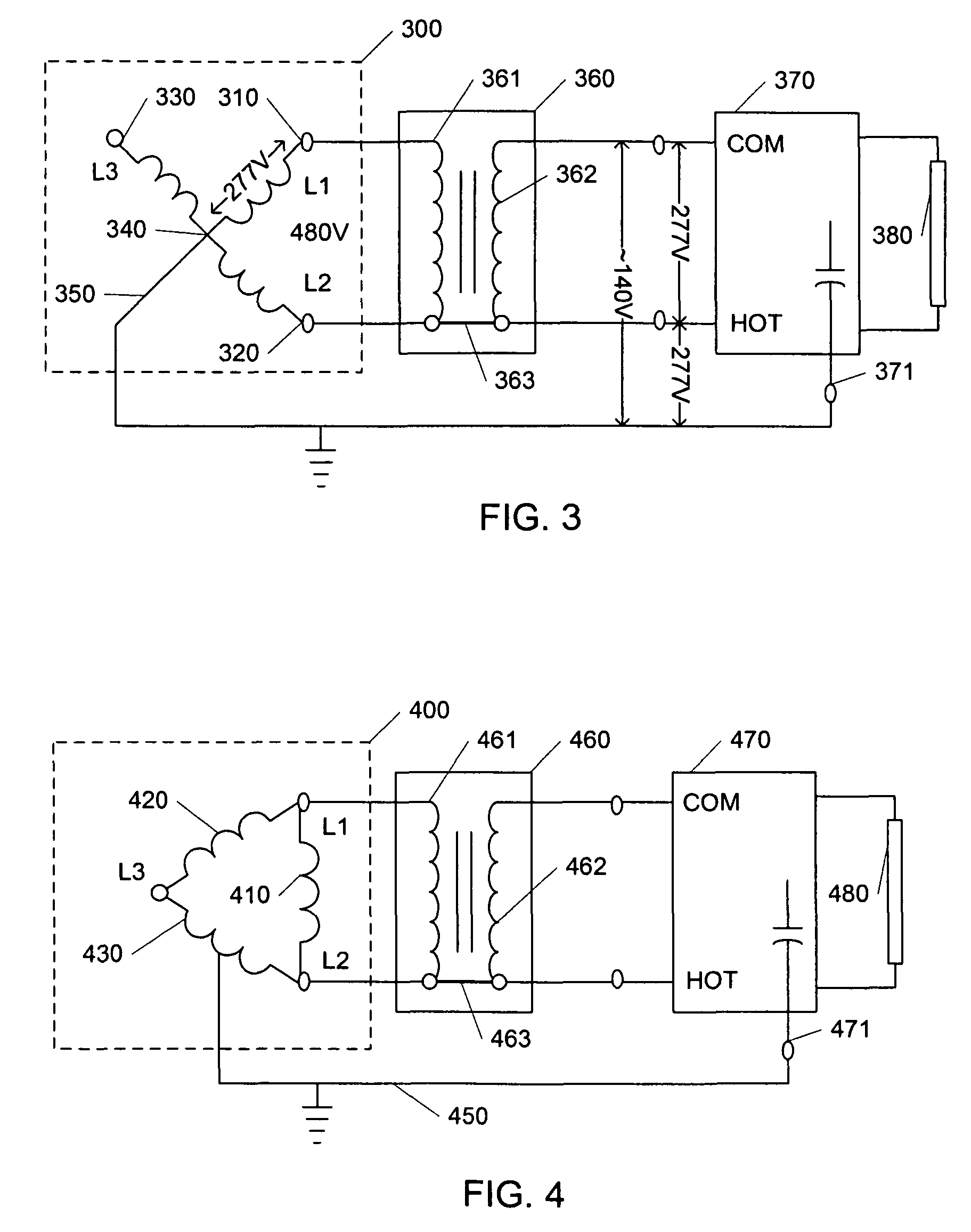 US07746003 20100629 D00002 patent us7746003 transformer wiring method and apparatus for  at mifinder.co