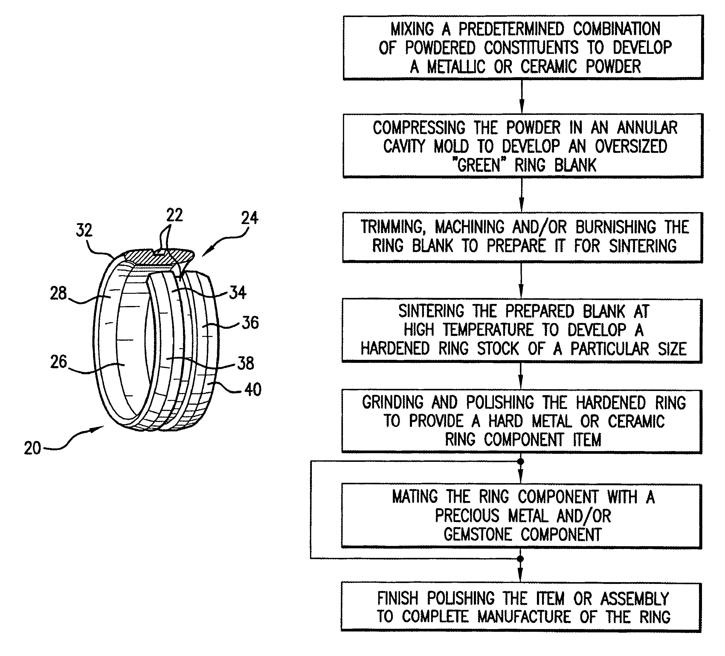 Iridium Wedding Band 59 Popular Patent Drawing