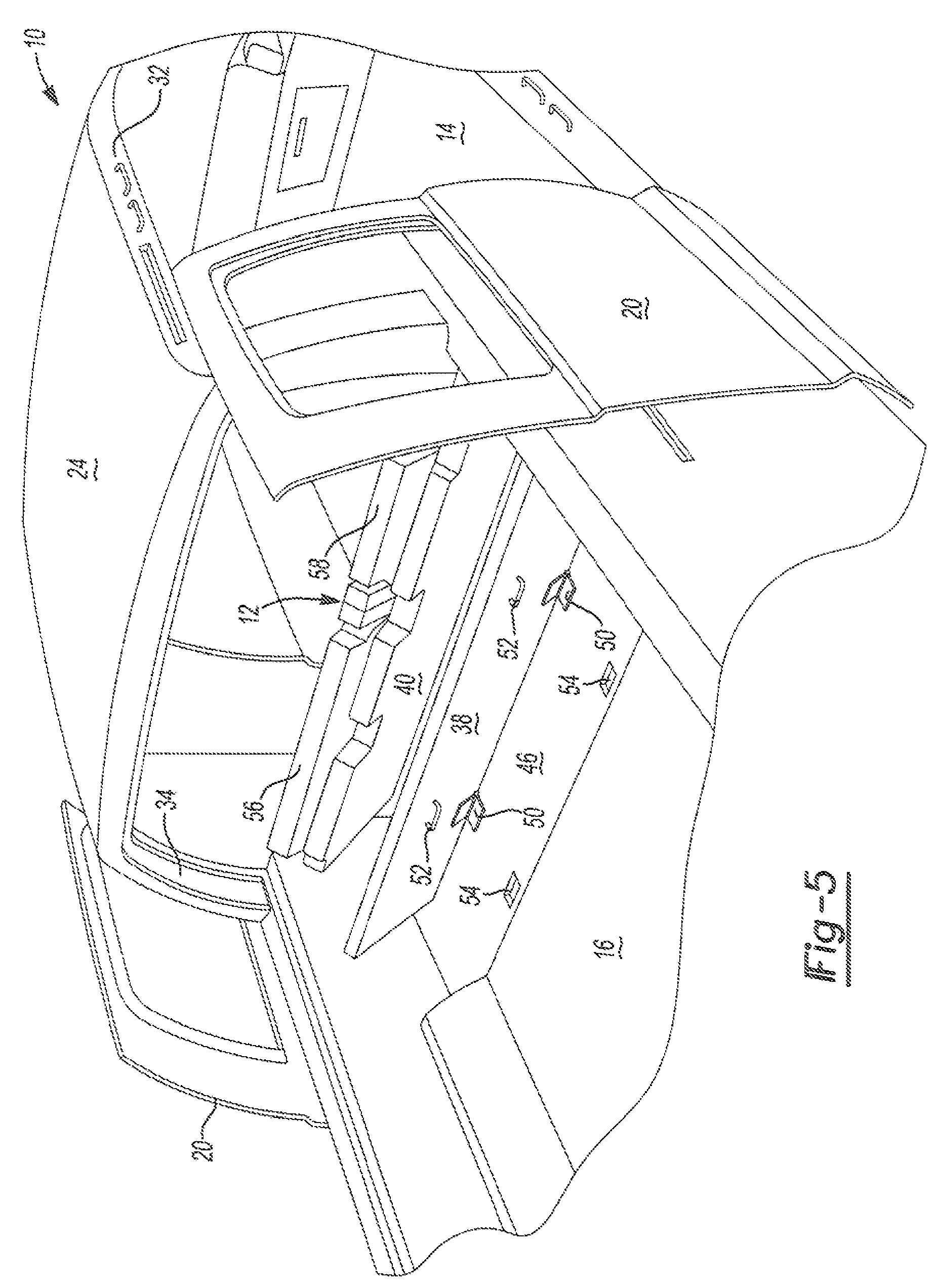Patent Us7762621 Third Row Seat For Truck Cabin Google Patents Q45 Engine Diagram Drawing