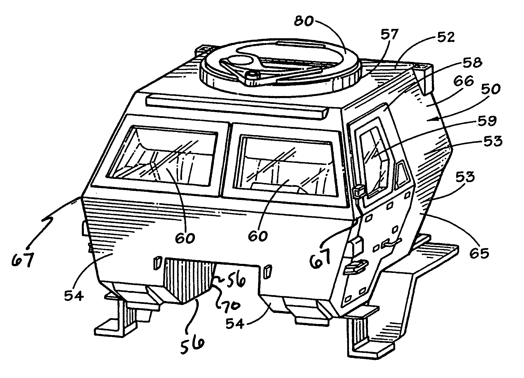 patent us7770506 armored cab for vehicles google patents