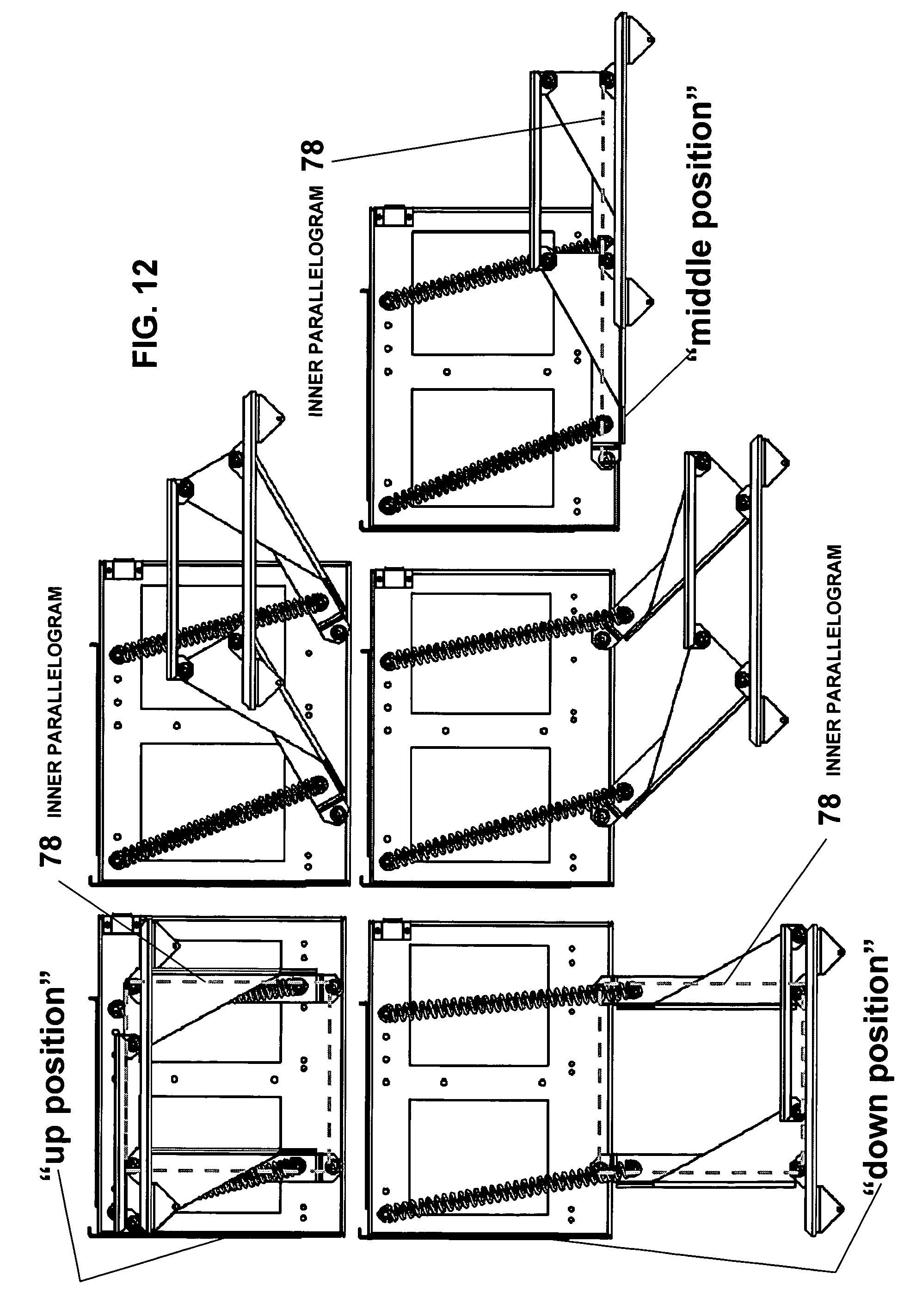 Patent US7770986 - Overhead pull-out swing-down drawer - Google ...