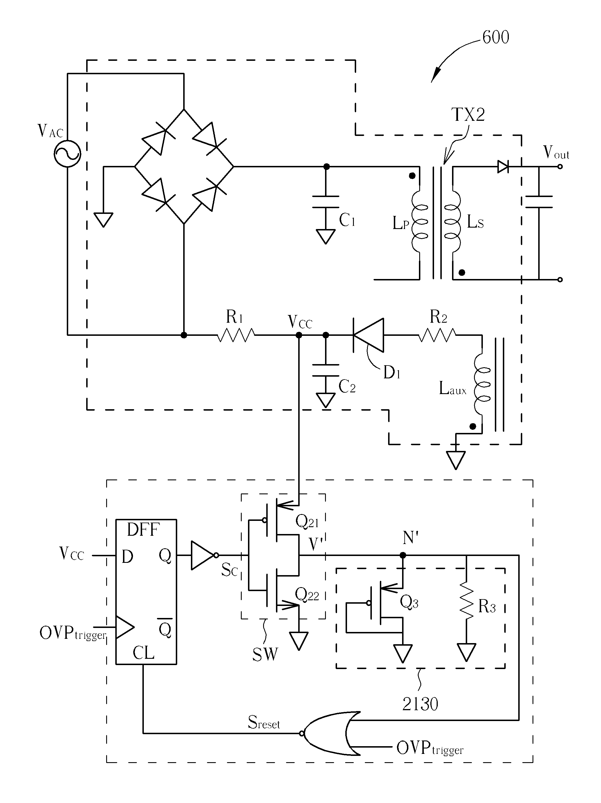 Patent Us7773394 Digital Latch Control Circuit For Over Voltage D Ff Diagram Drawing