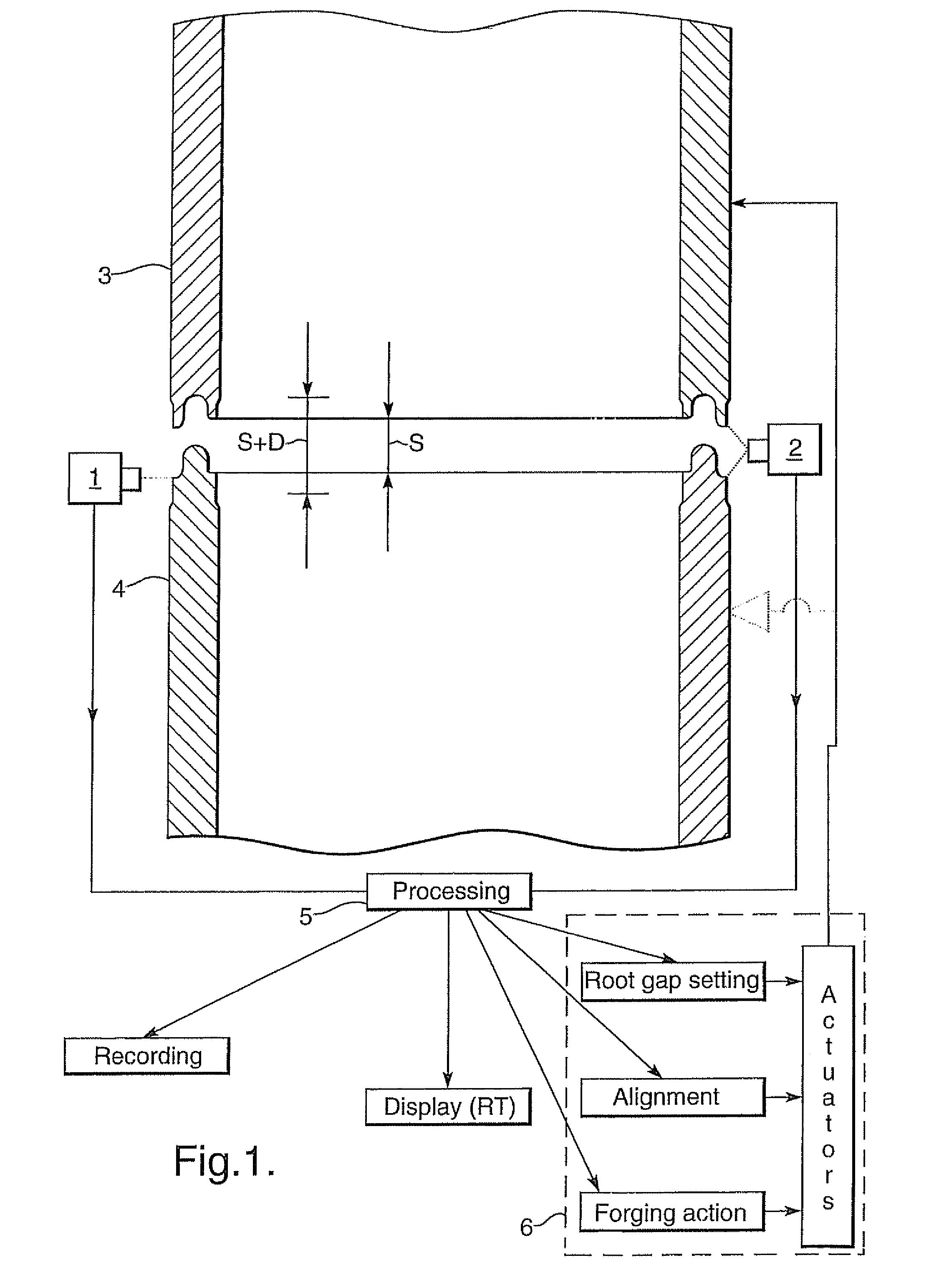 Patent Us7774917 Forge Welding Tubulars Google Patents Sword Forge Weld Forge Welding Steel On Forge Welding Diagram #41