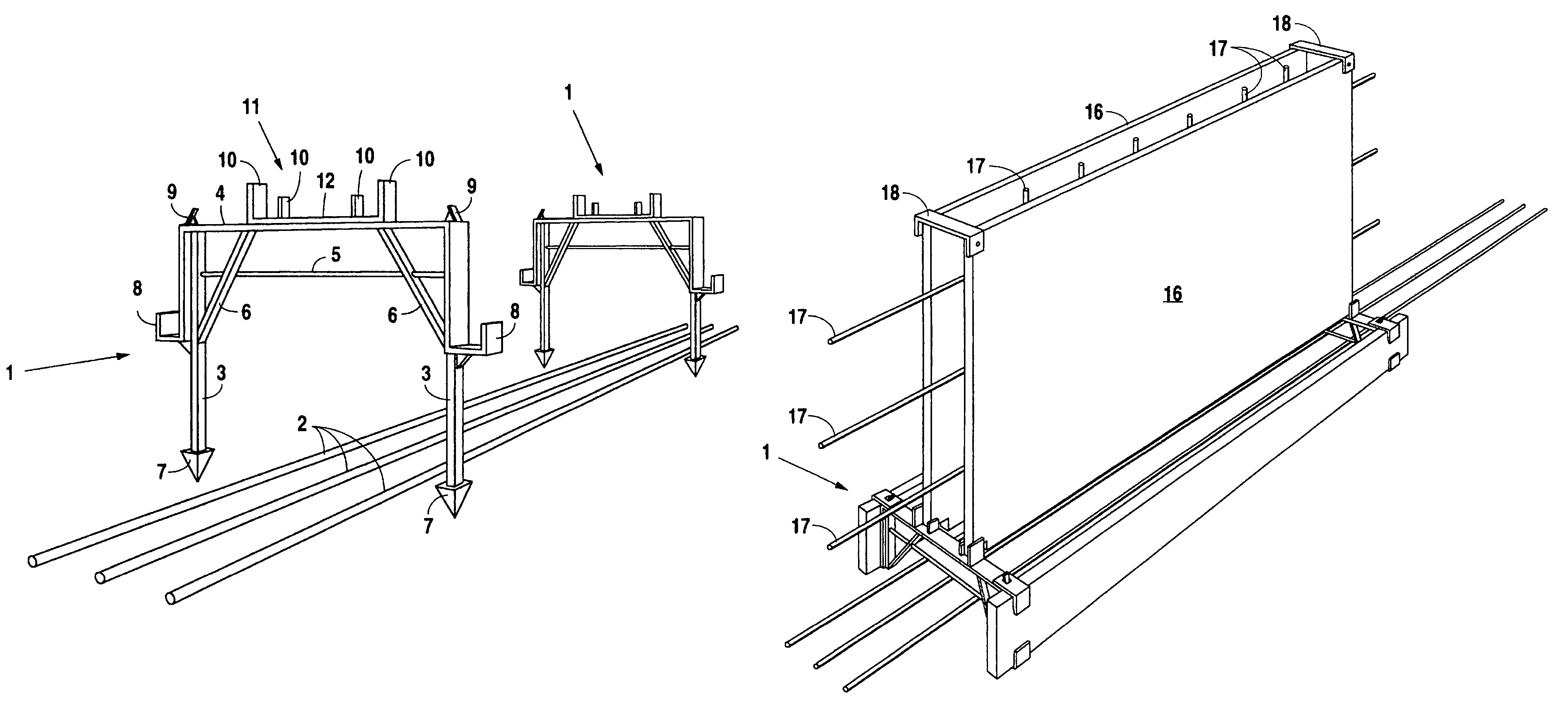 Patent US7775499 - Foundation footing form and wall form ...