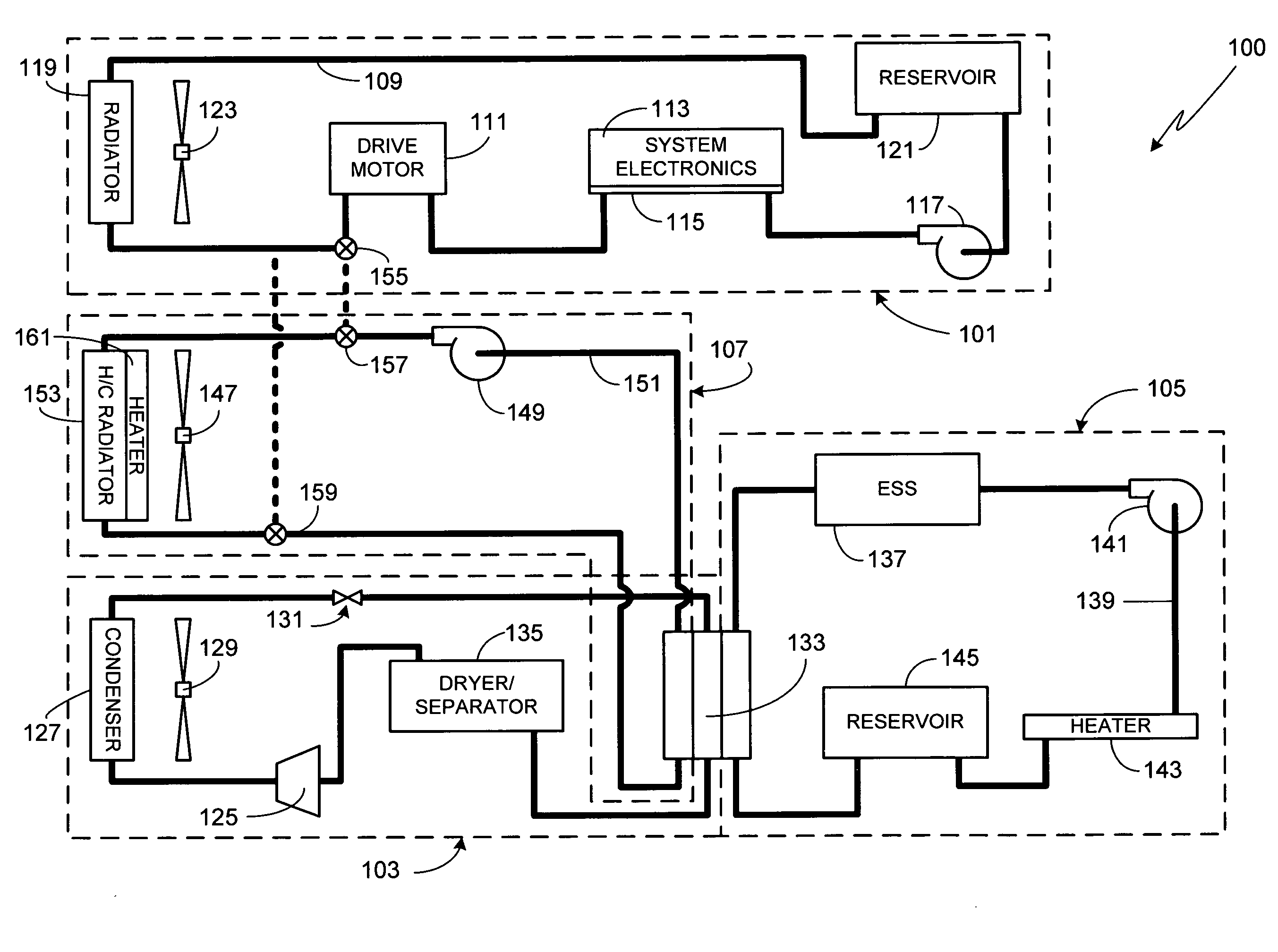 patent us  electric vehicle thermal management system, wiring diagram