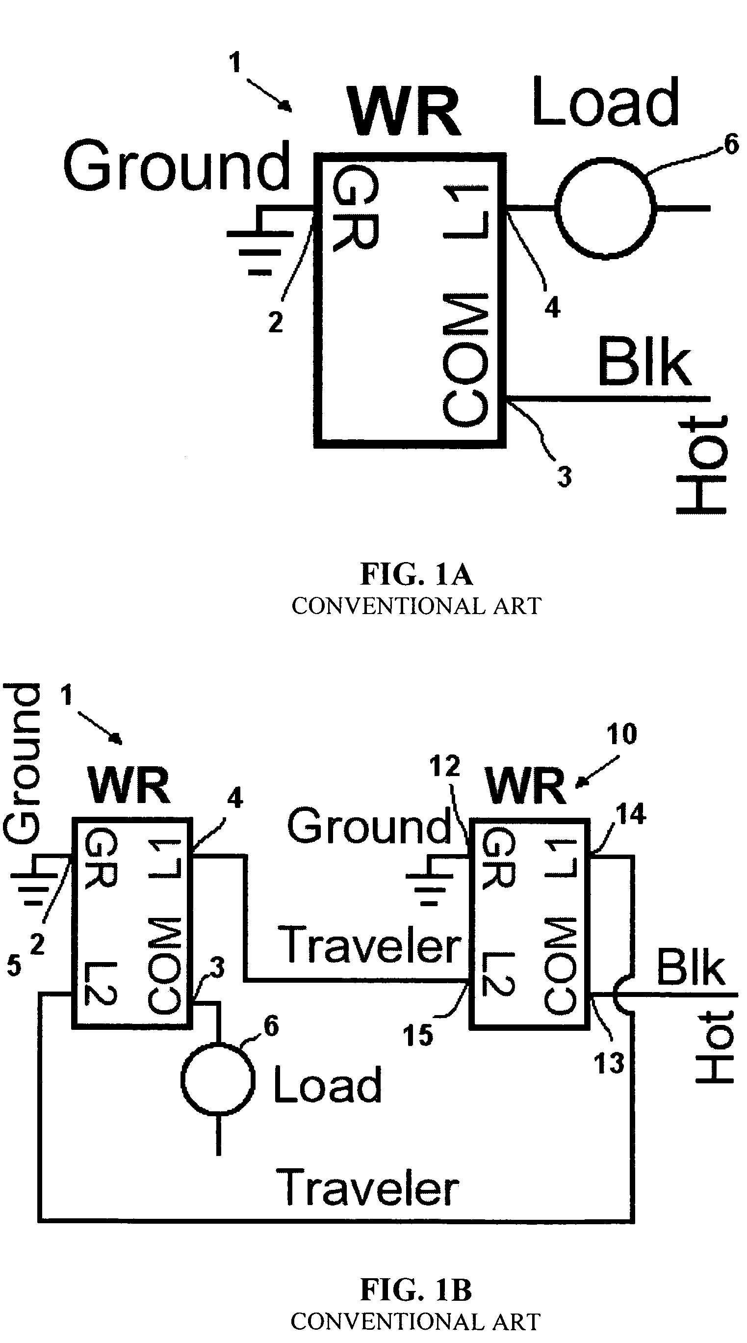 US07791282 20100907 D00001 patent us7791282 motion sensor switch for 3 way light circuit hubbell 3 way switch wiring diagram at gsmx.co