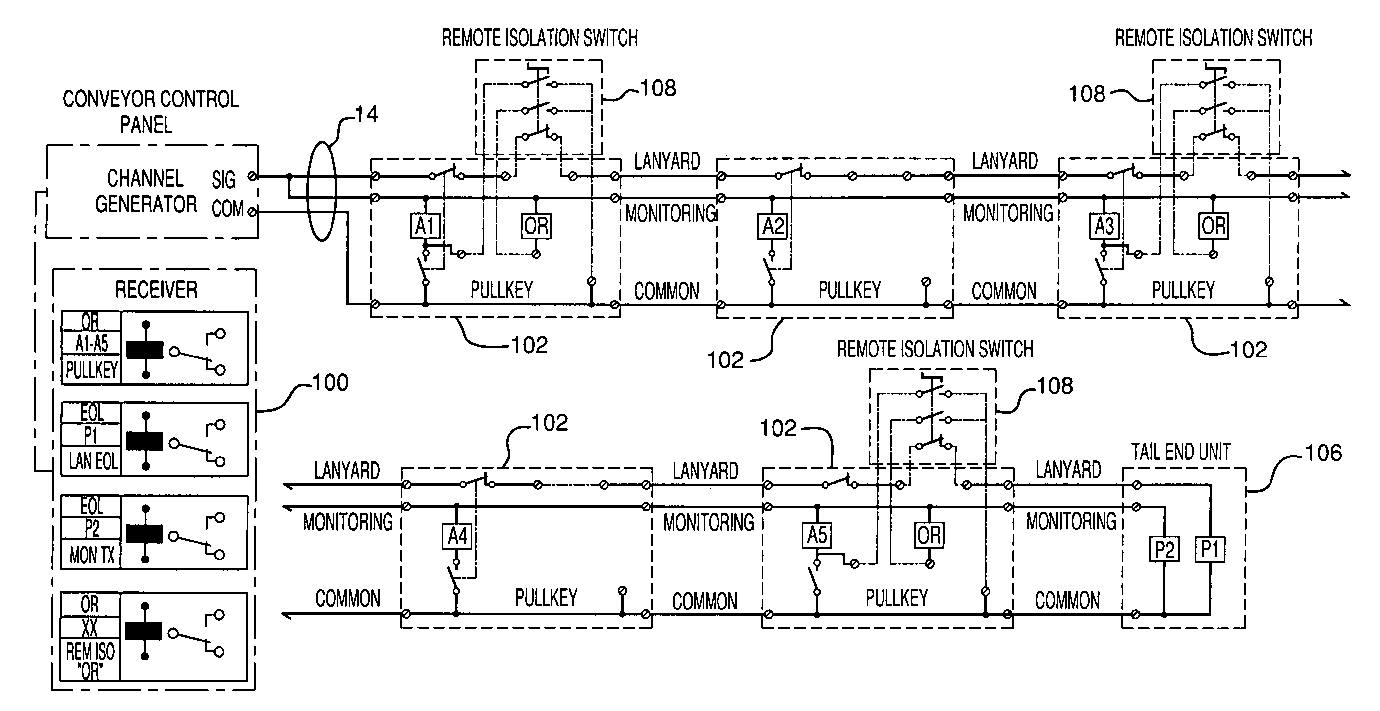 patent us7793774 lockout and monitoring system sil3 safety patent drawing