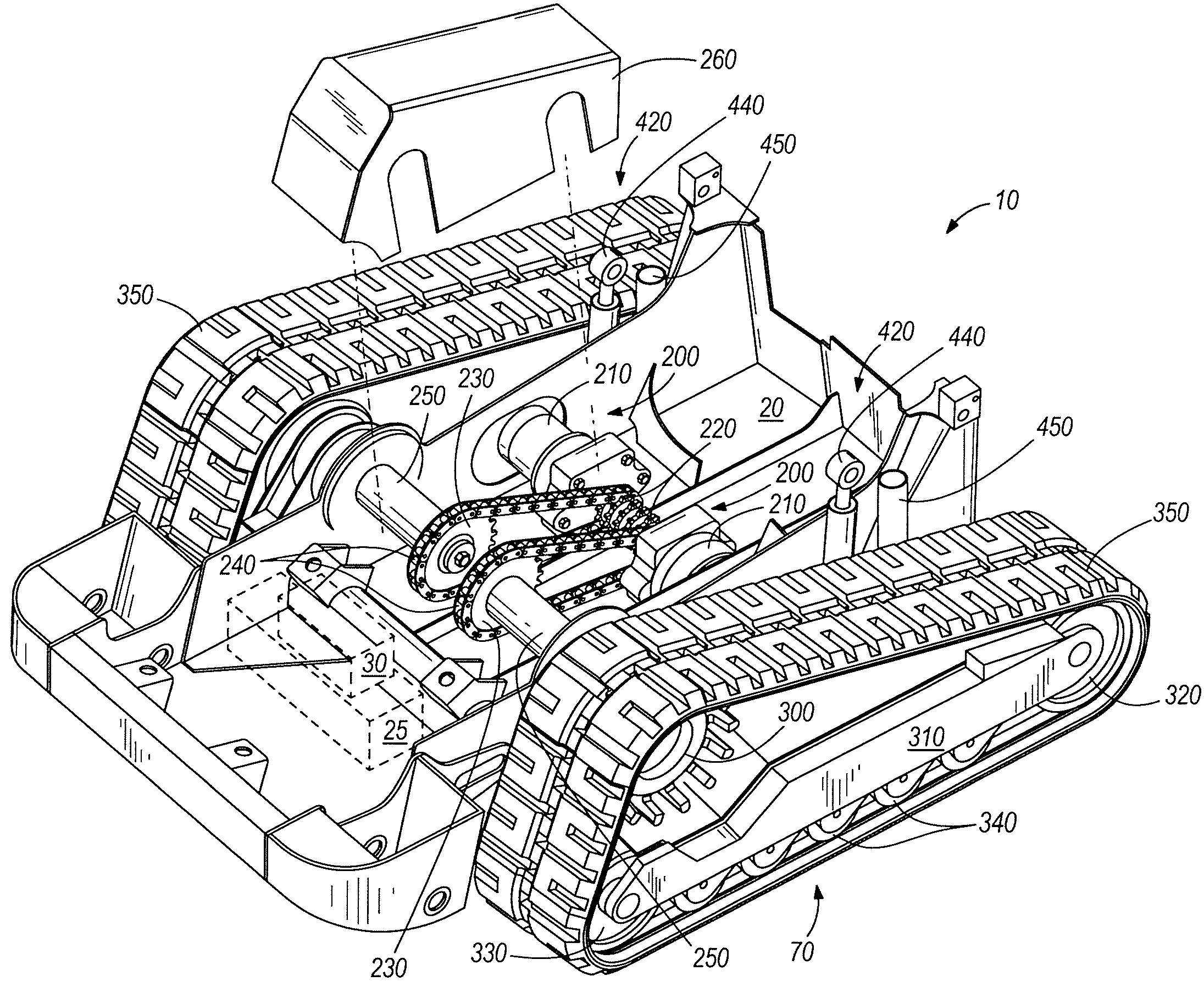 Patent Us7798260 Track Vehicle Having Drive And