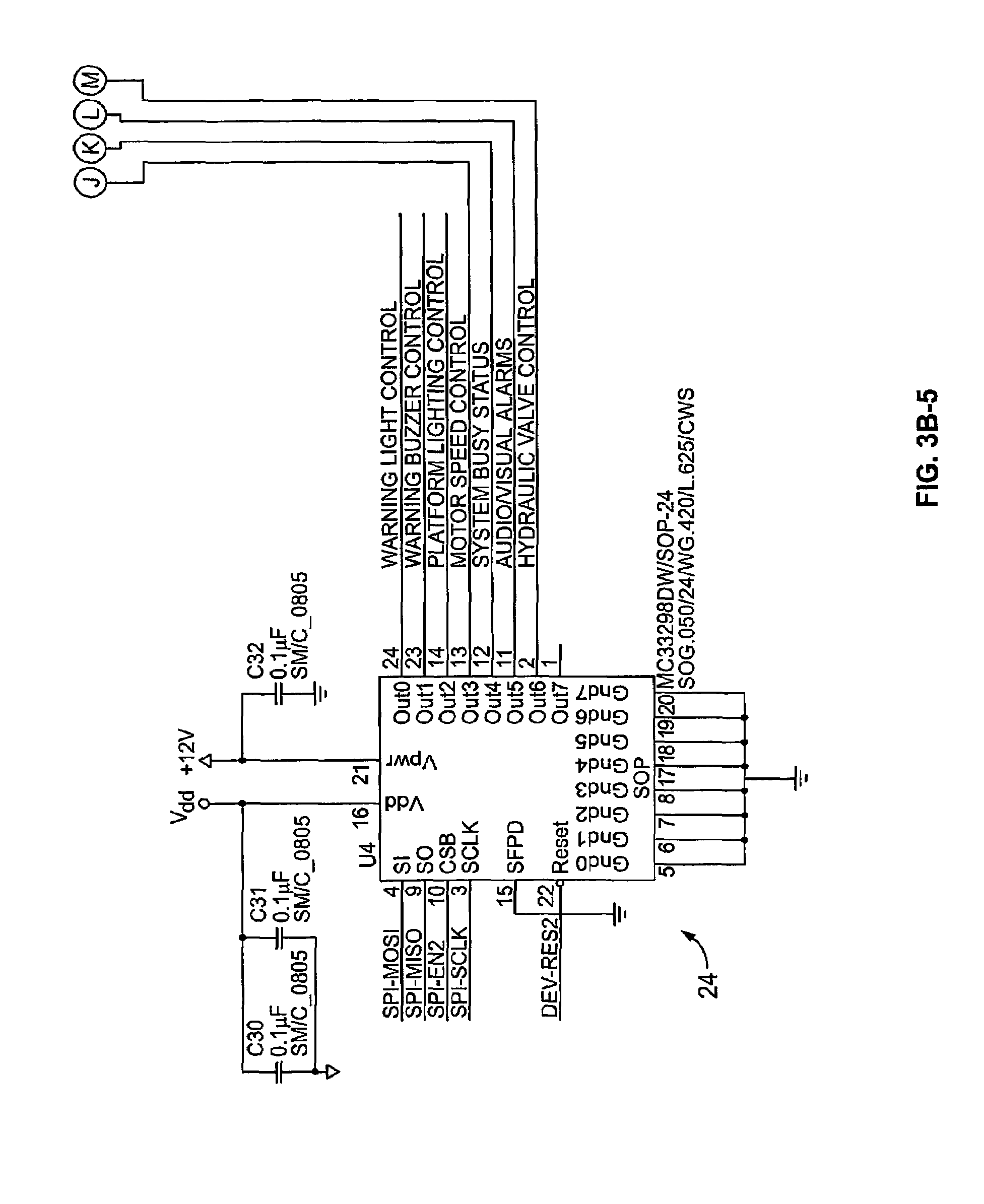 patent us7798761 electronic system and method for an auxiliary device interlock