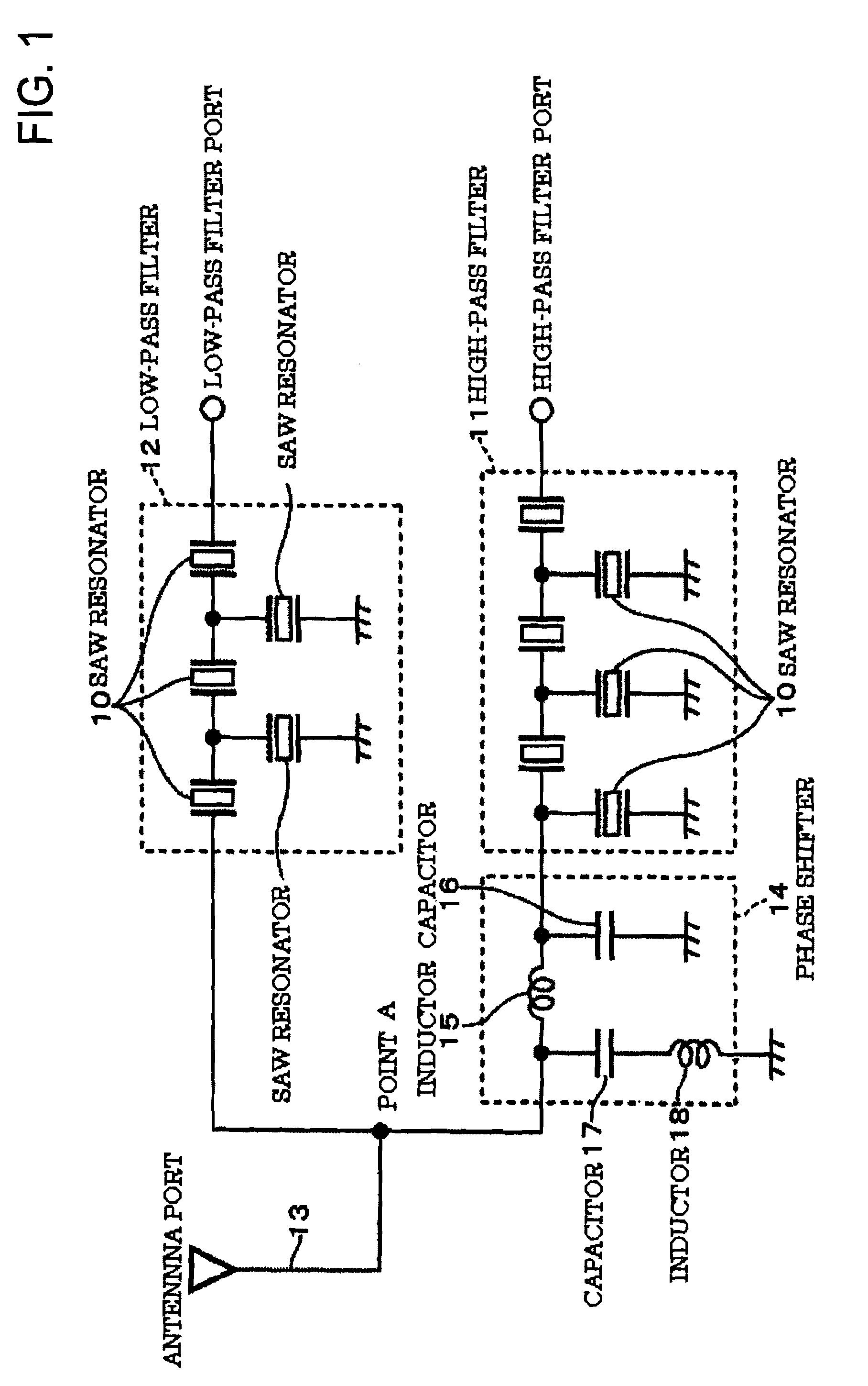 Patent Us7800461 Antenna Branching Filter Google Patents Capacitor Circuit Drawing