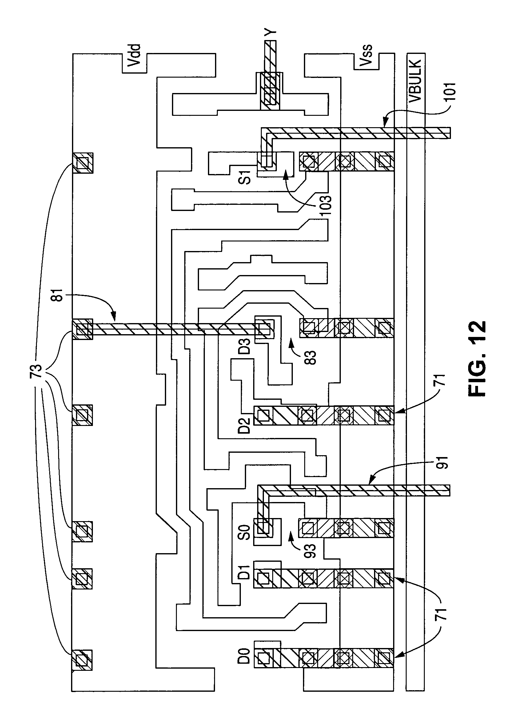 Patent Us7805701 Universal Two Input Logic Gate That Is Multiplexer Diagram And Truth Table Drawing