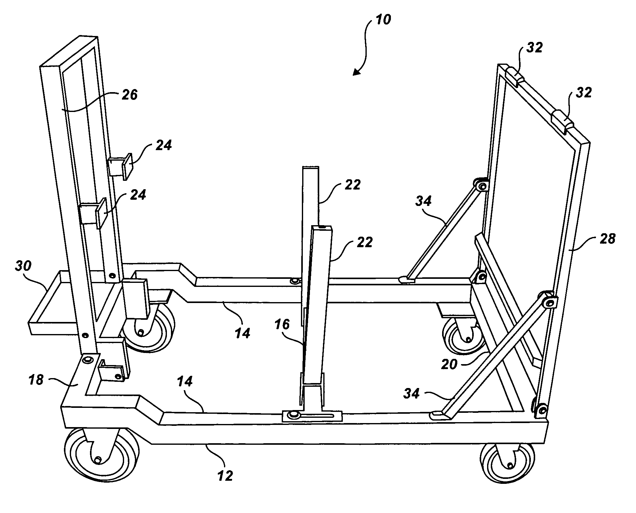 patent us7810799 - collapsible engine test stand