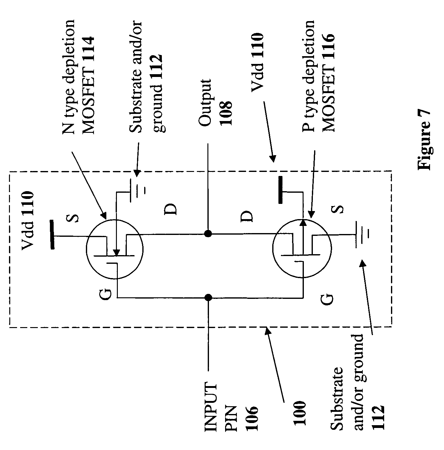 patent us7817459 - depletion-mode mosfet circuit and applications