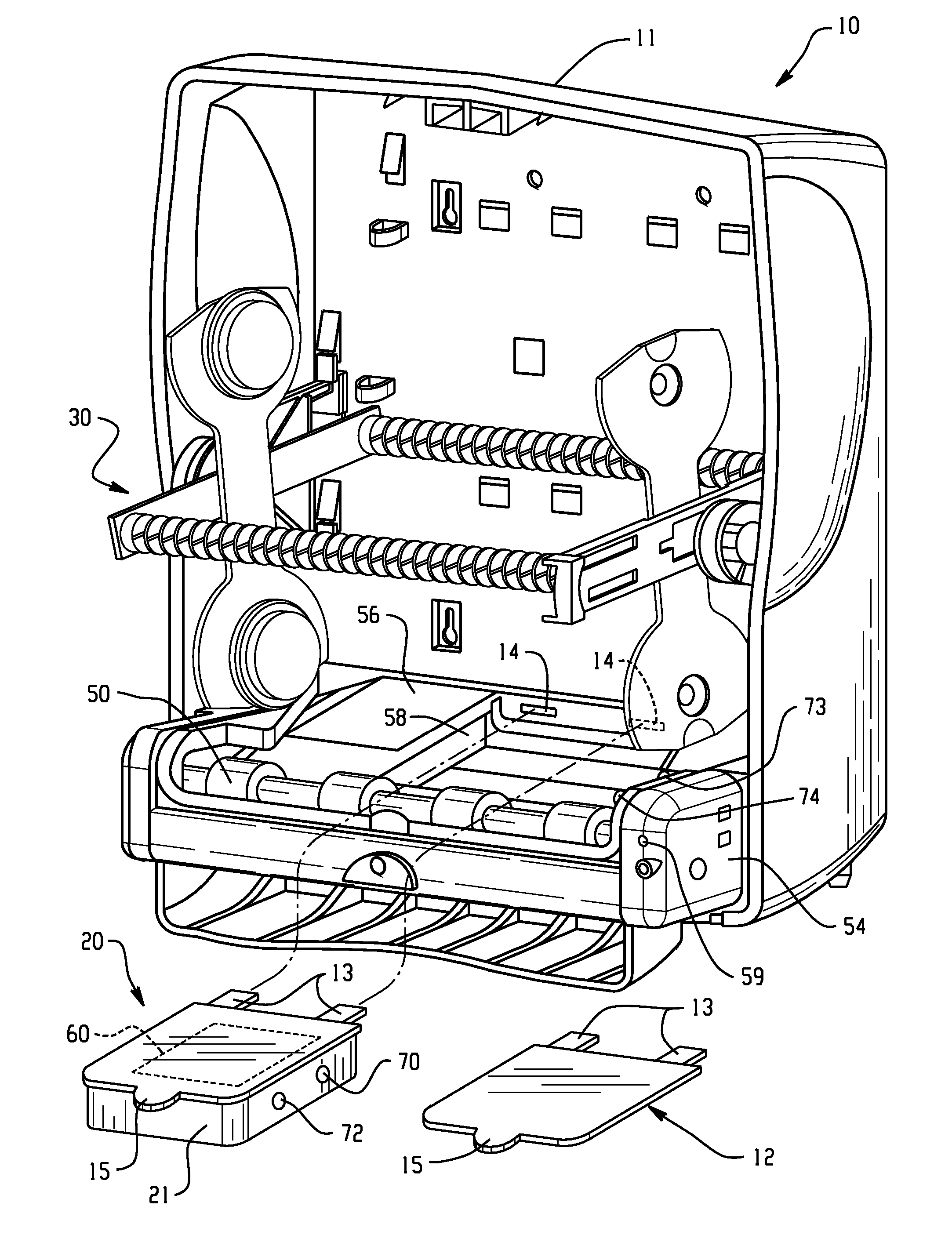 patent us7821155 power supply systems for dispensers and methods VDC Power Supply Rockwell Automation patent drawing