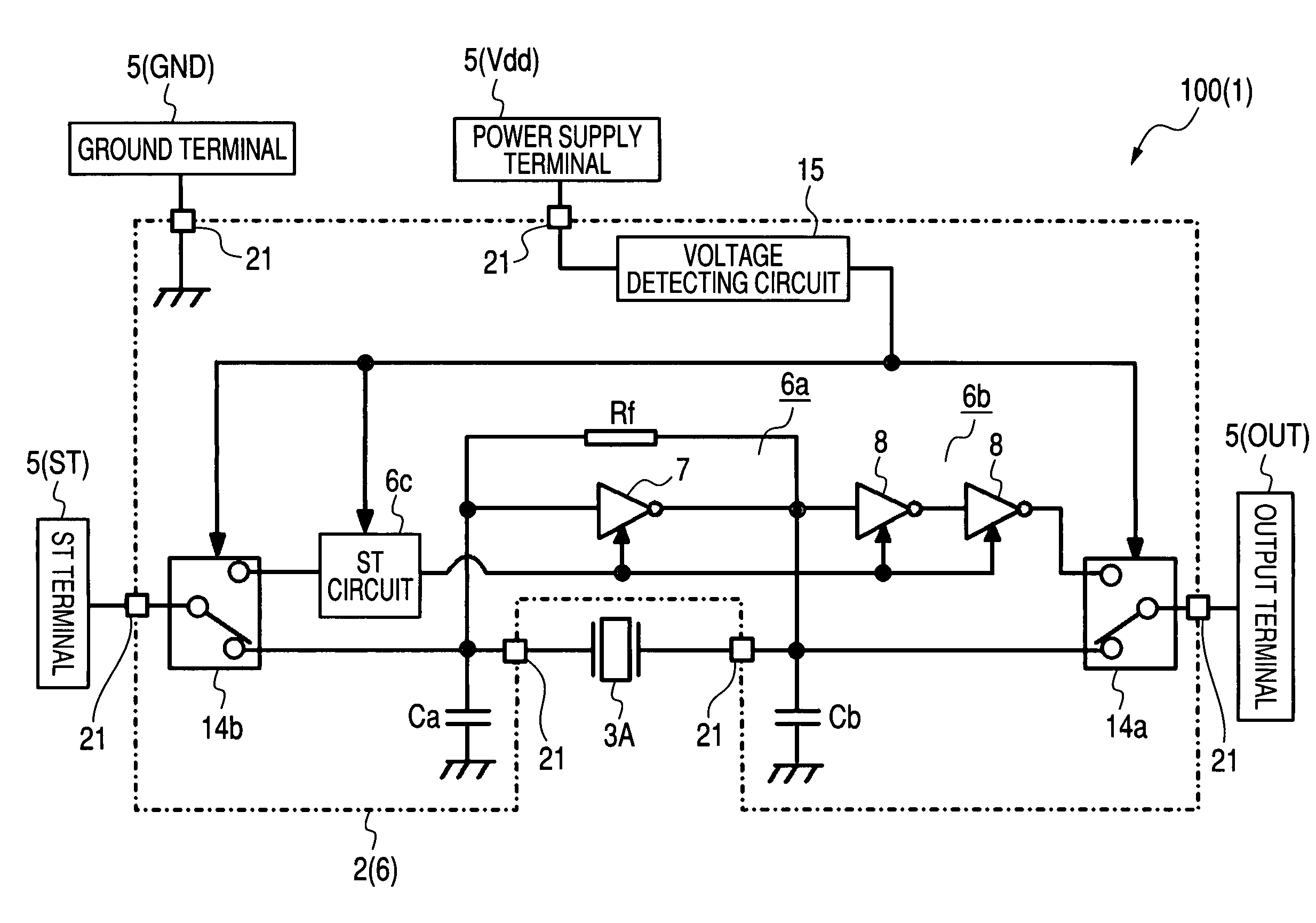 Brevet Us7821348 Crystal Oscillator For Surface Mounting Google Circuits Patent Drawing