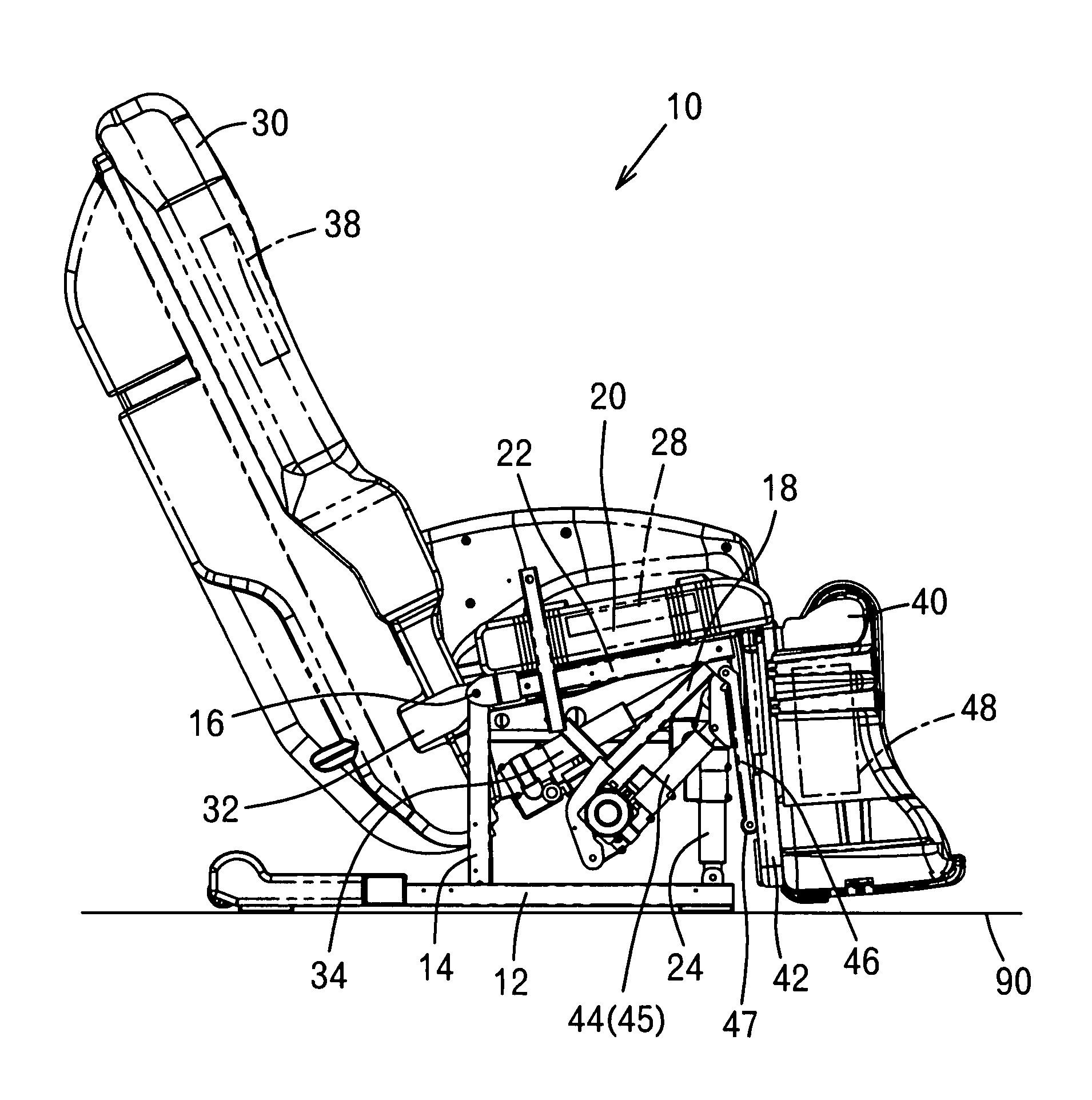 Patent us massage machine of chair type google
