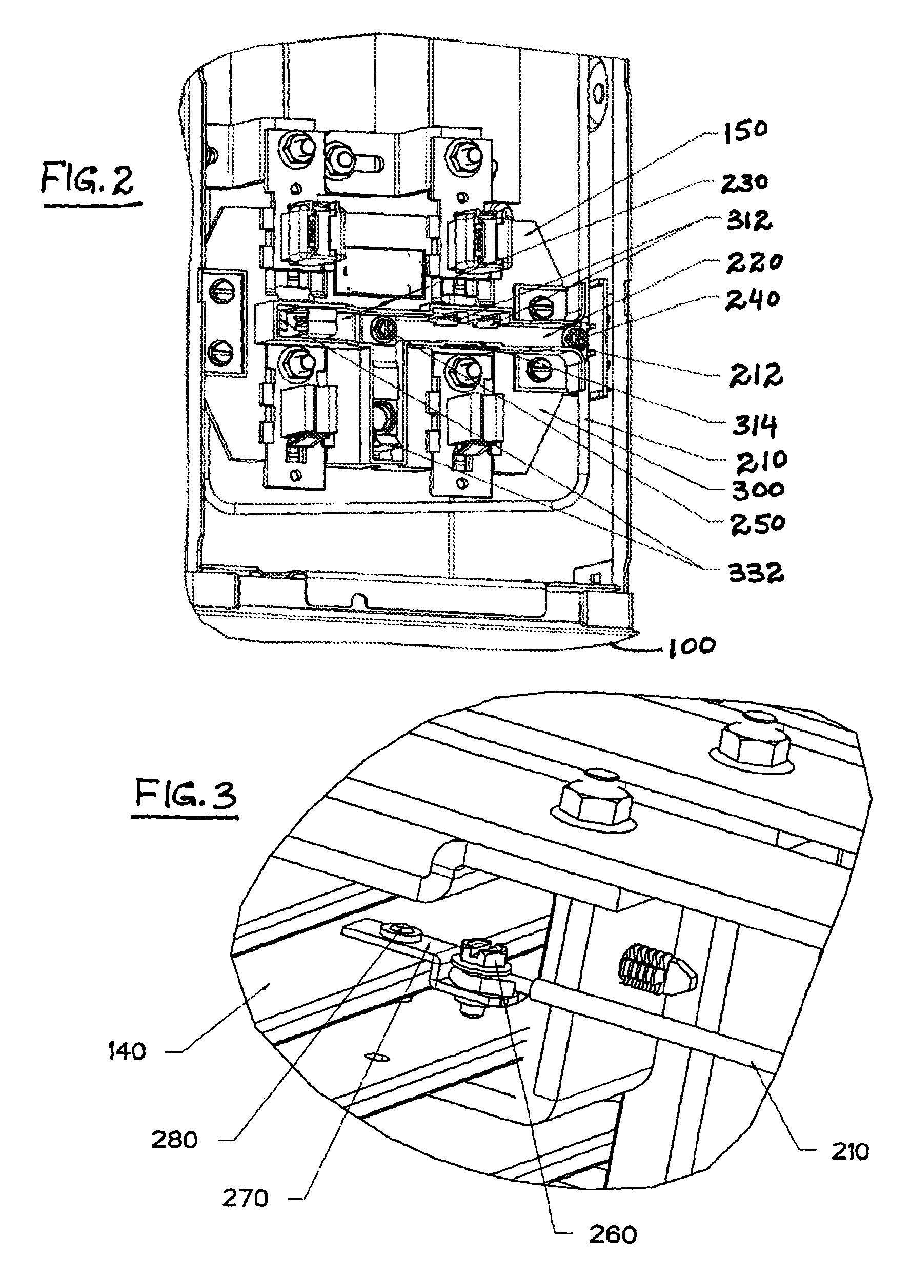 patent us7837498 - wire distributed 5th jaw system for multi-position metering