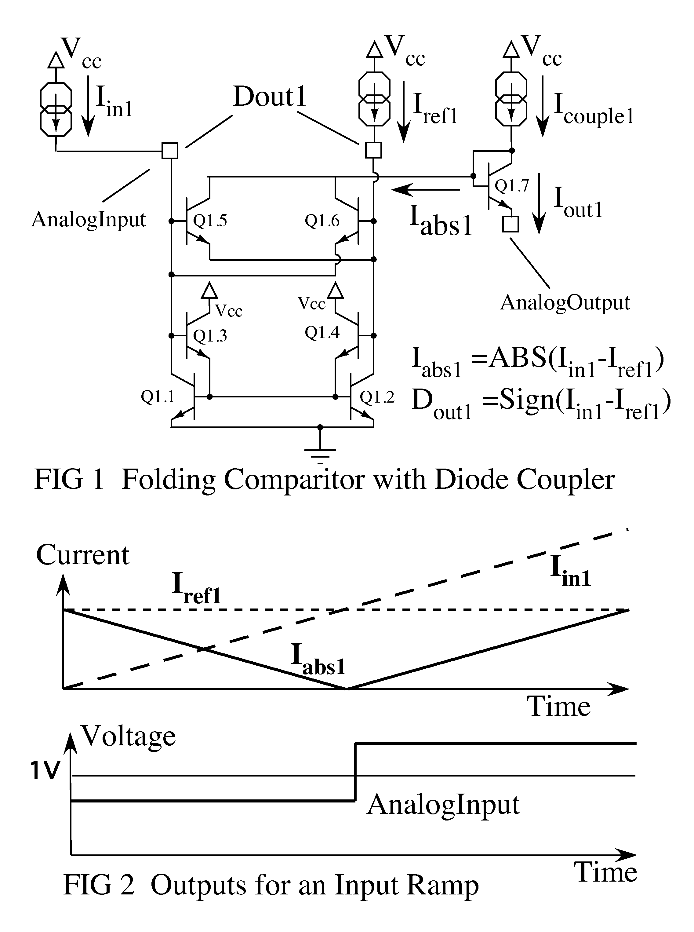 Patent Us7839317 Folding Comparator Compatible With Level Crossing Delayon Timer Another Commonemitter Sample Circuit Shown Below May Drawing